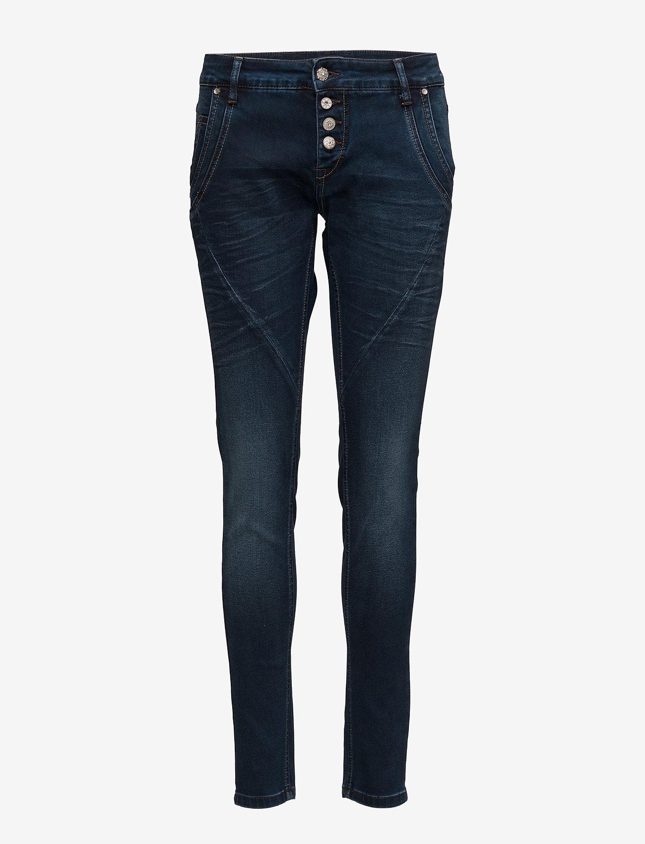 Cream - Baiily Power Stretch Jeans - džinsa bikses ar šaurām starām - dark blue denim - 0