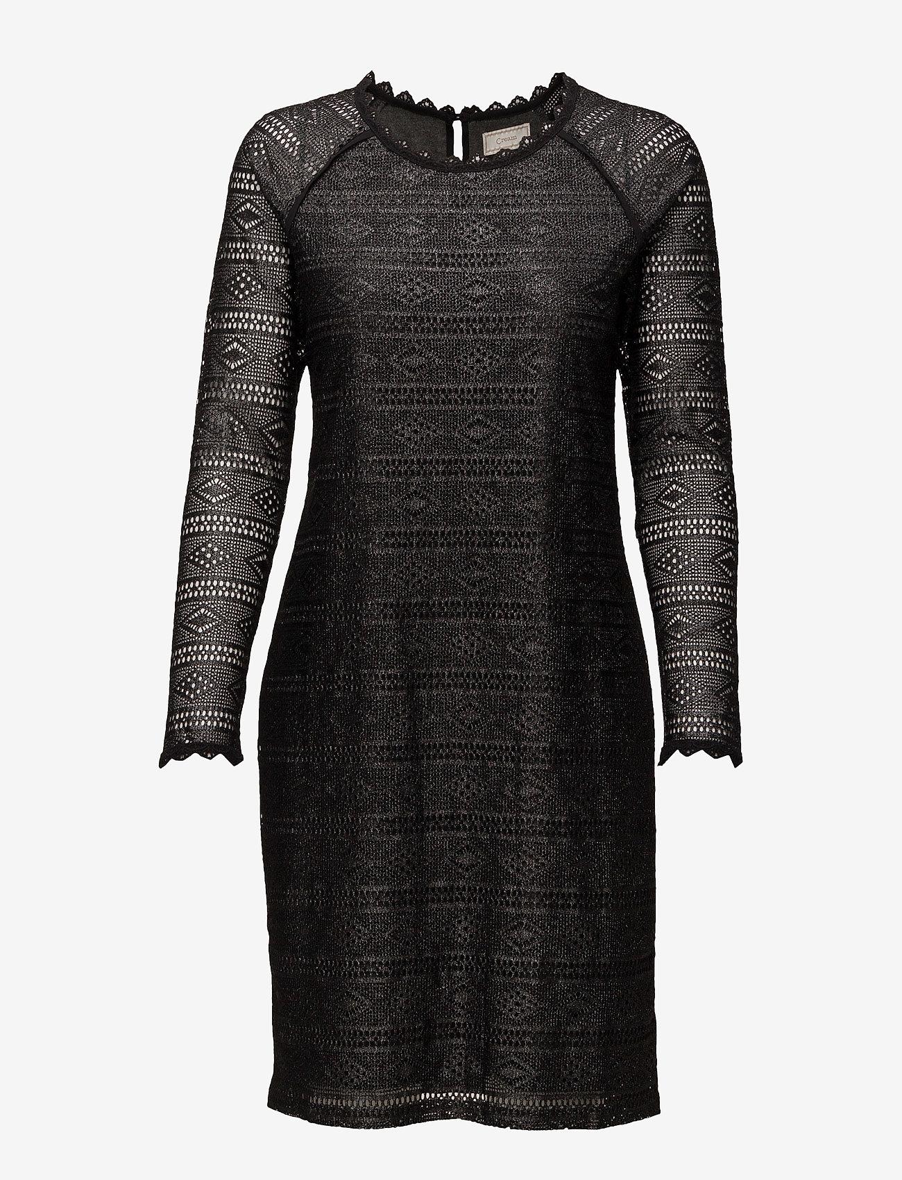 Cream - Allelu Dress - kanten jurken - pitch black - 0