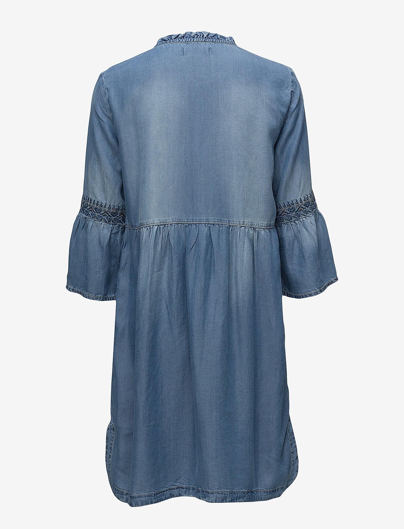 Cream Lussa Denim Dress - Dresses