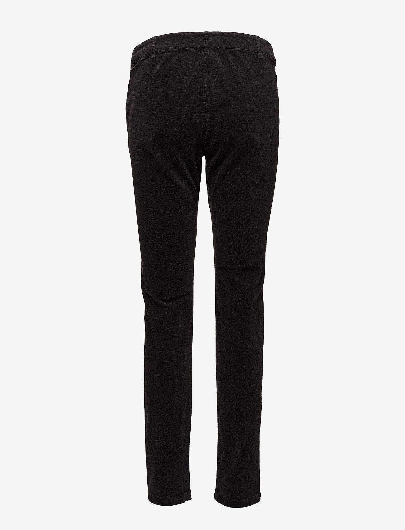 Cream - Belus velvet - kathy fit - slim fit trousers - pitch black