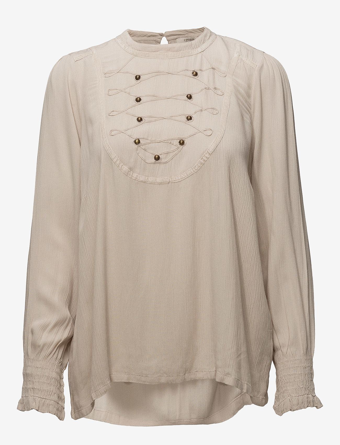 Cream - Alexia Blouse - long sleeved blouses - gray morn