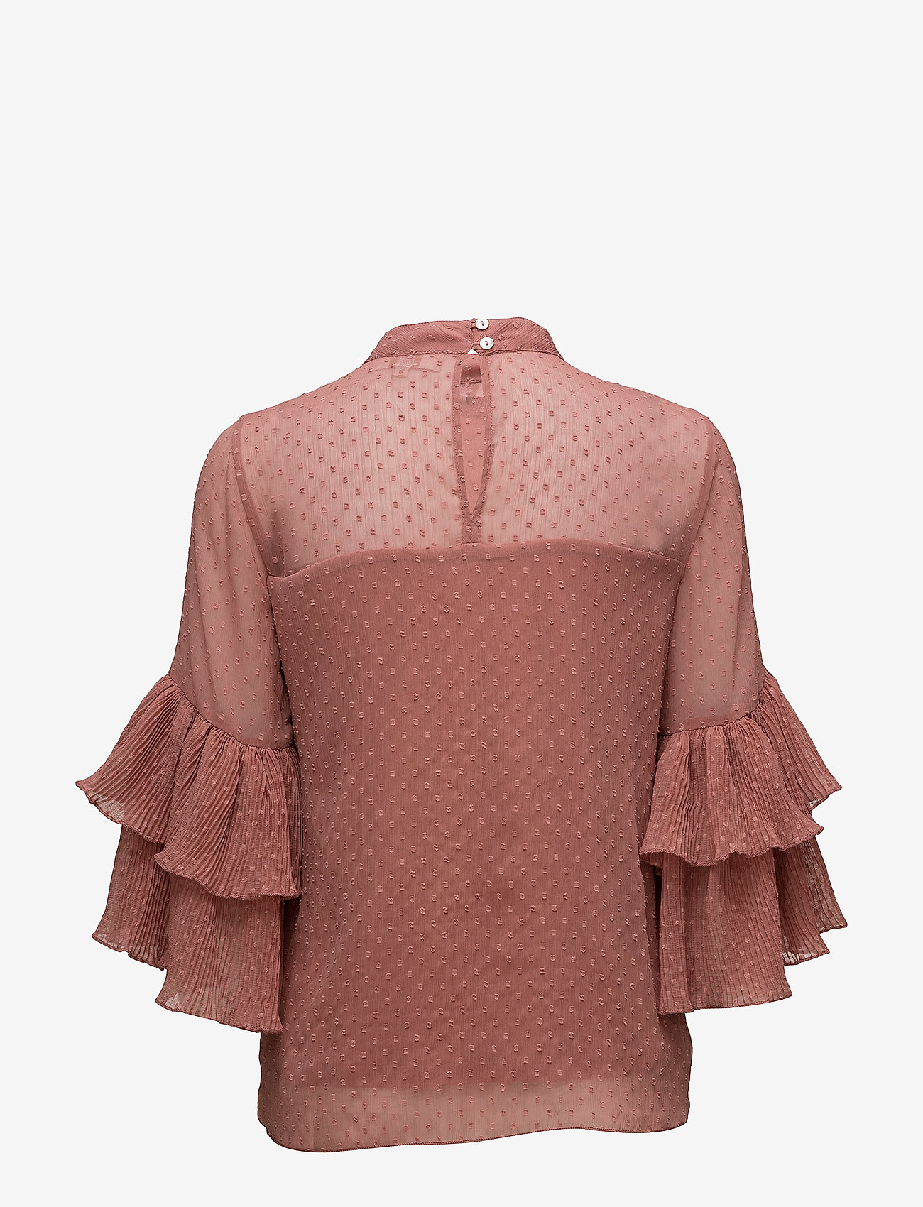 Cream - Vera Blouse - long sleeved blouses - withered rose