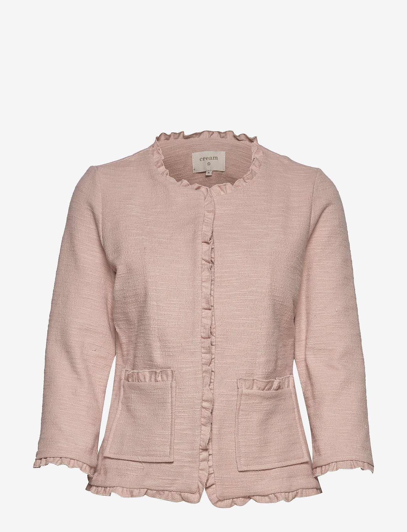 Cream - Nellie cardigan - marynarki - rose dust