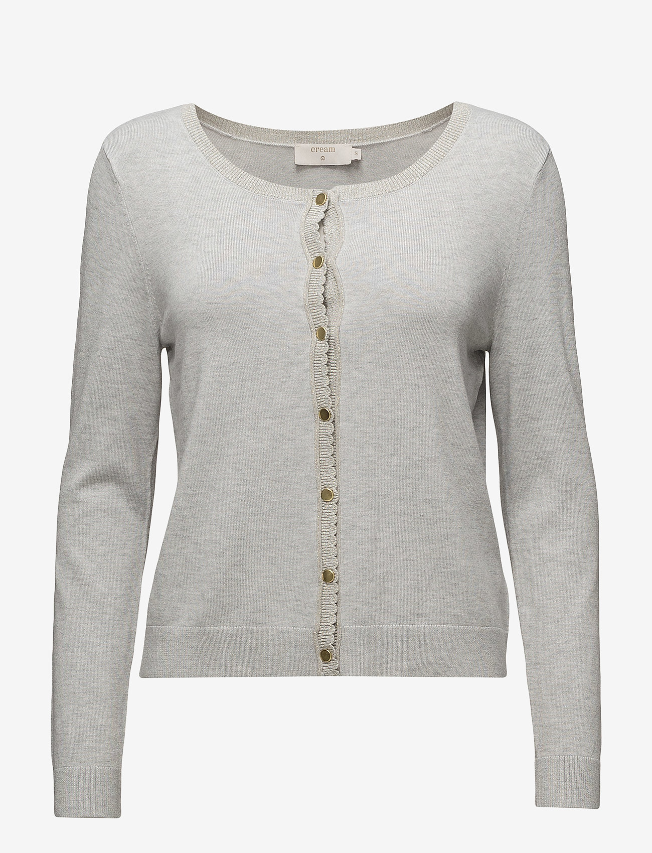 Cream - Tammy Cardigan - swetry rozpinane - light grey melange - 0