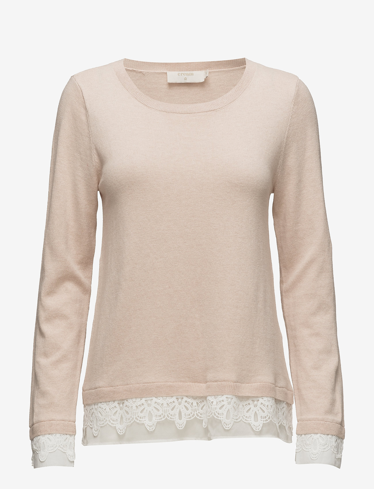 Cream - Lavalin Pullover - jumpers - rose dust