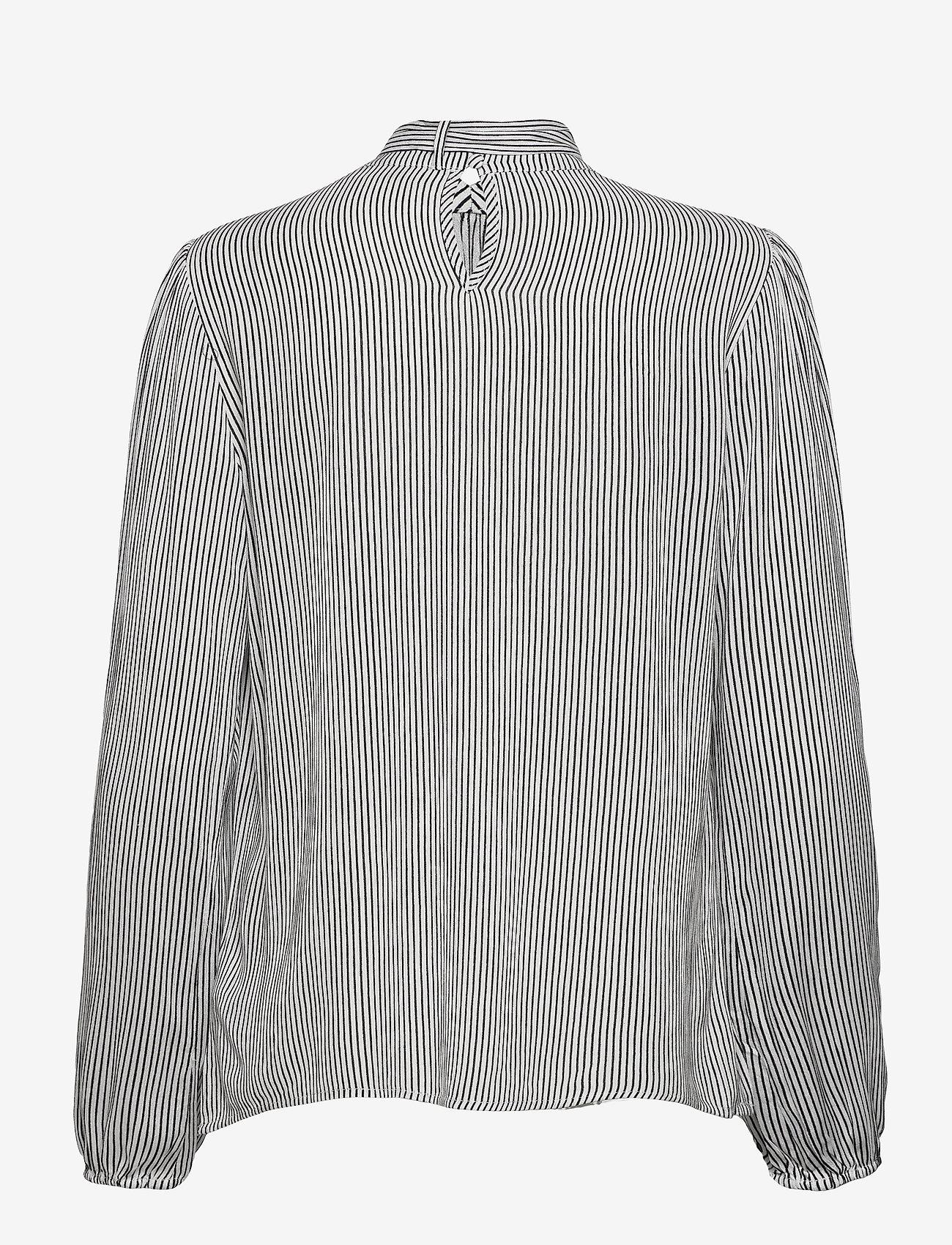 Cream - Bowie blouse - langärmlige blusen - black white stripe - 1