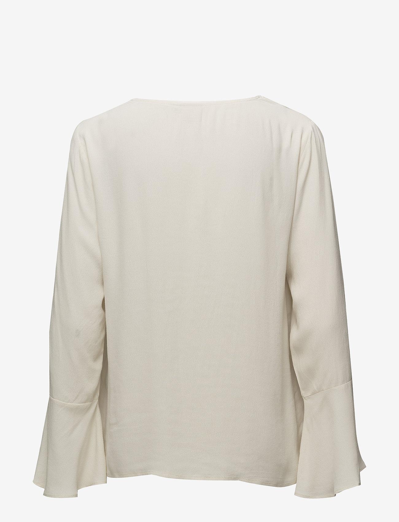Cream - Fabila Blouse - long sleeved blouses - birch