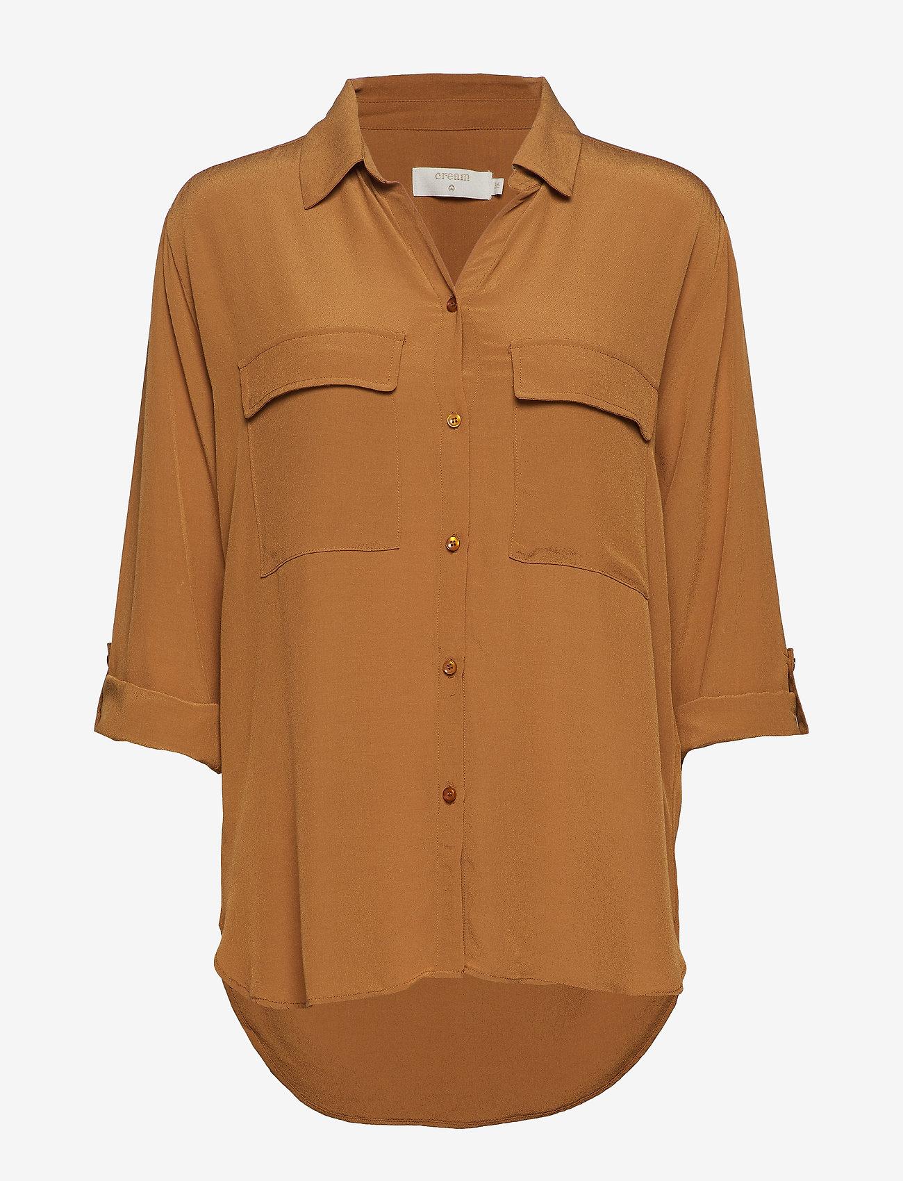 Cream - Milanie Shirt - blouses à manches longues - bronzed