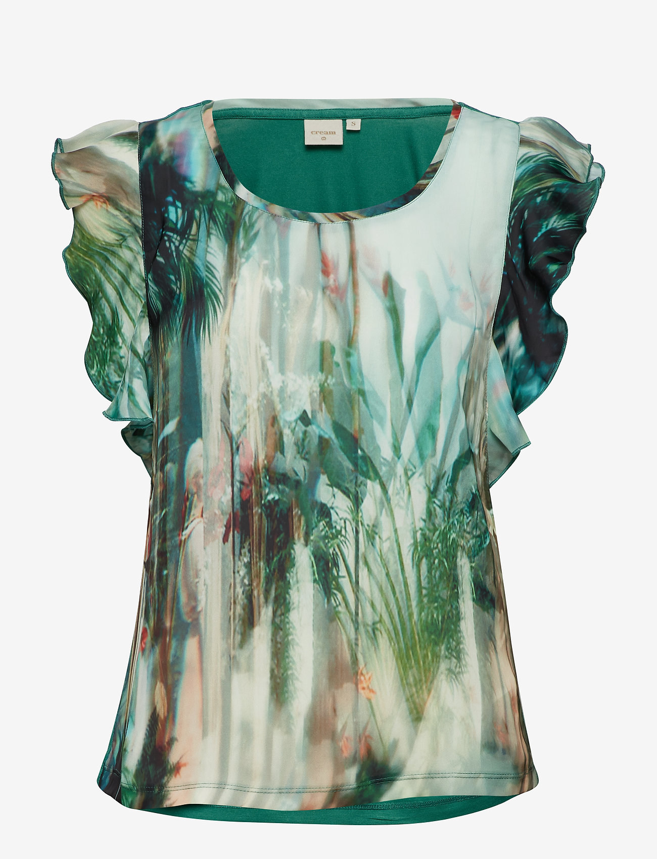 Cream - Palm T-shirt - blouses sans manches - malachite green