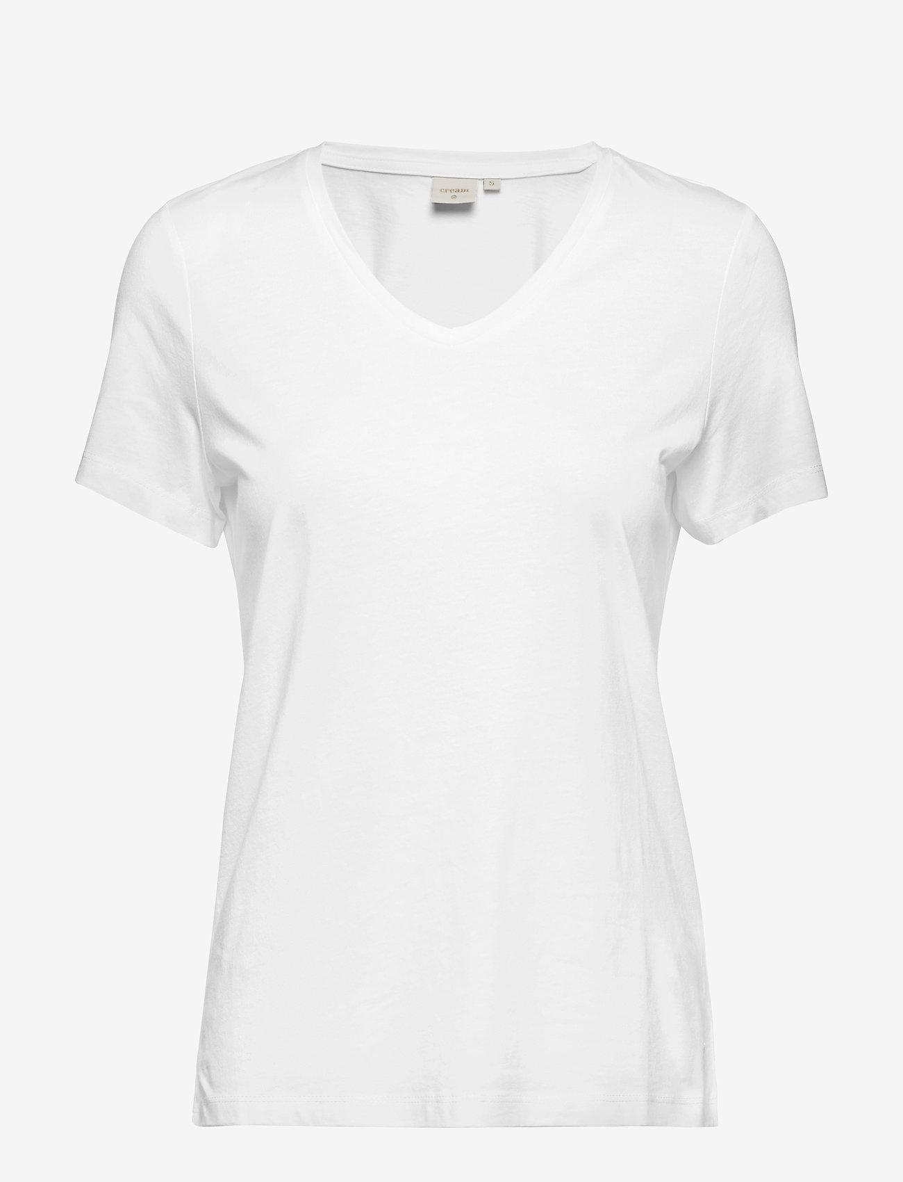 Cream - Naia T-shirt BCI - t-shirts - chalk