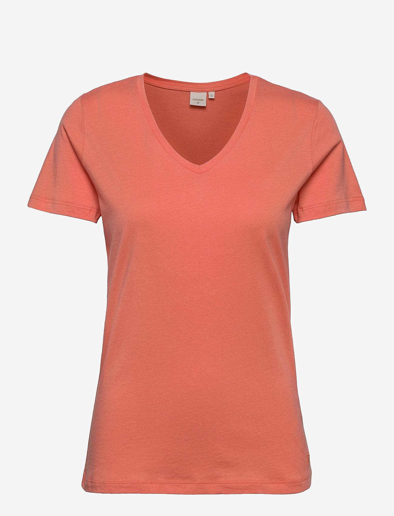 Cream - Naia T-shirt - t-shirts - peach echo - 0