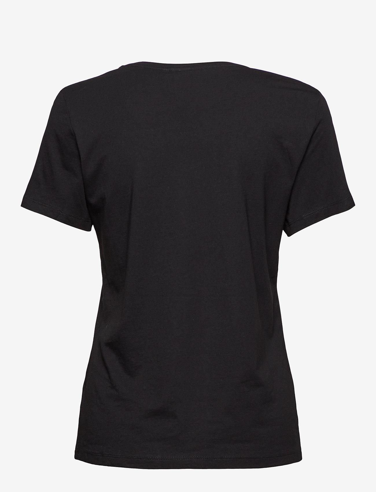 Cream - Naia T-shirt BCI - t-shirts - pitch black