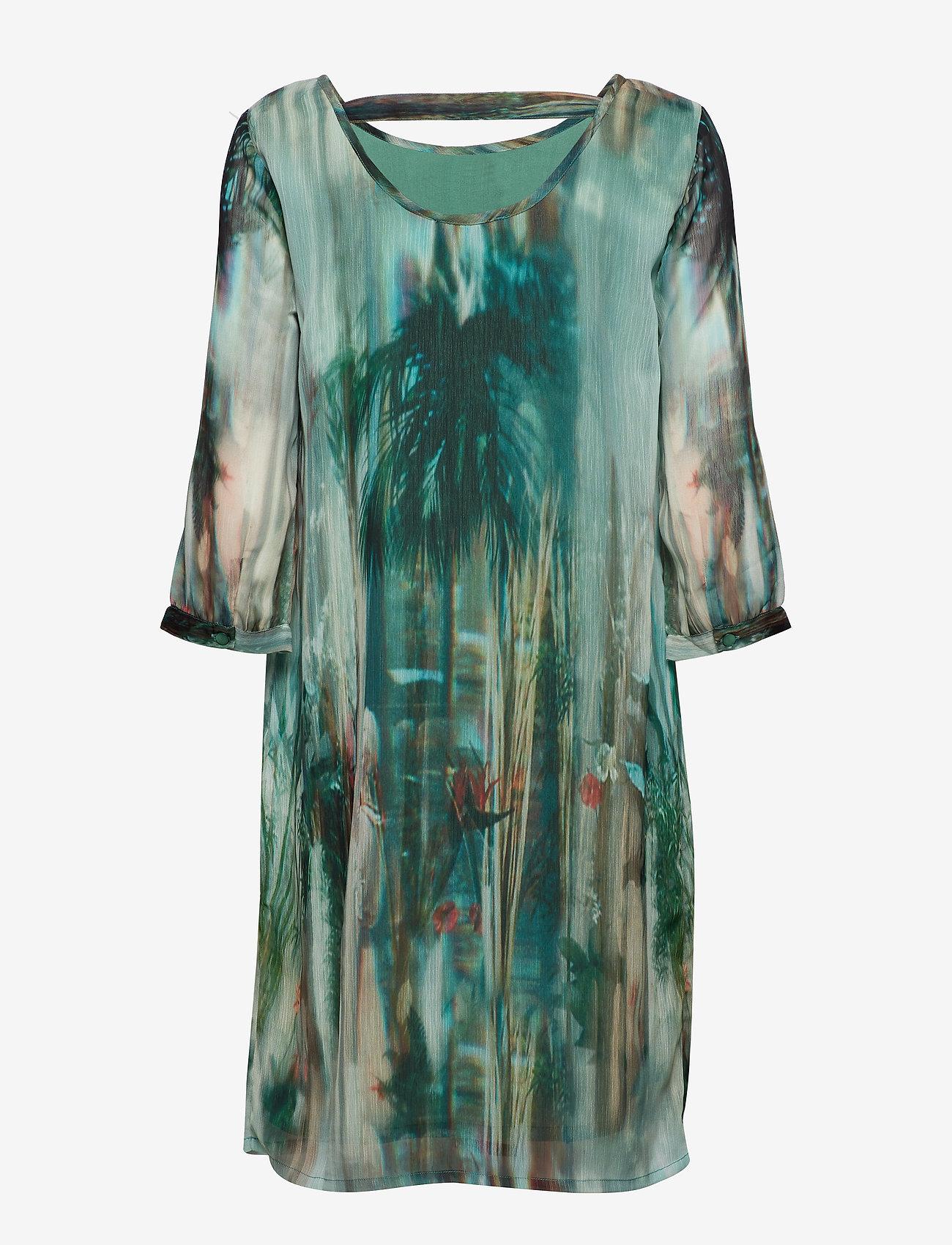 Cream - Jeanne Dress - robes longeur du midi - malachite green