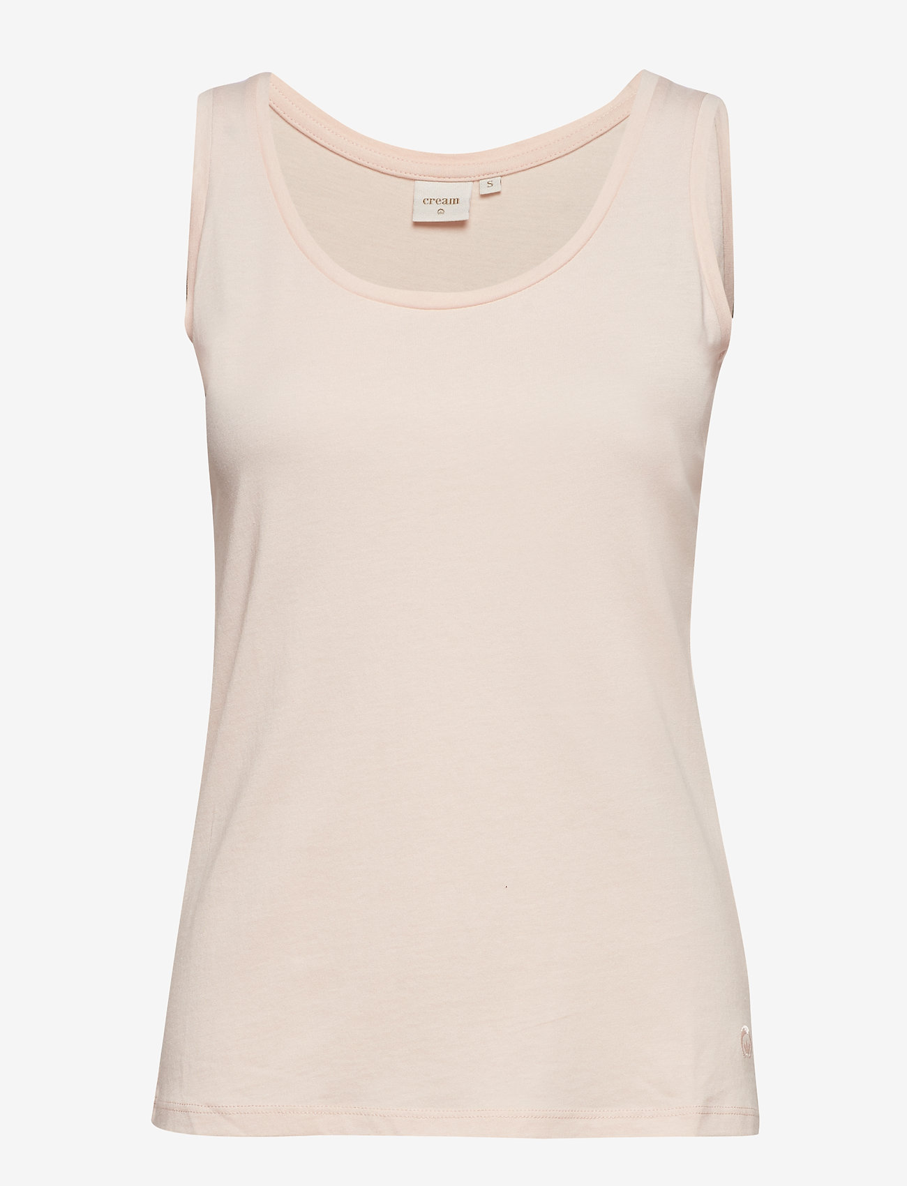 Cream - Naia o-neck tank top - topy bez rękawów - sunshine rose