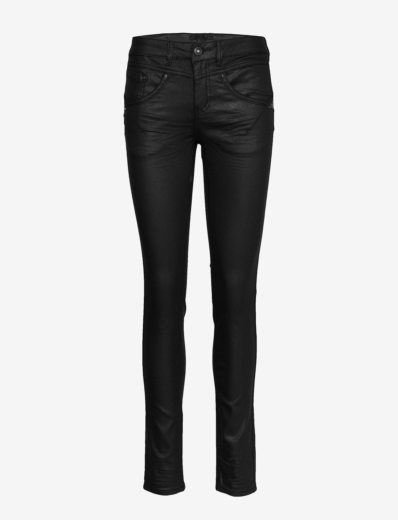 Cream - Annelene pants Shape fit - skinny farkut - pitch black