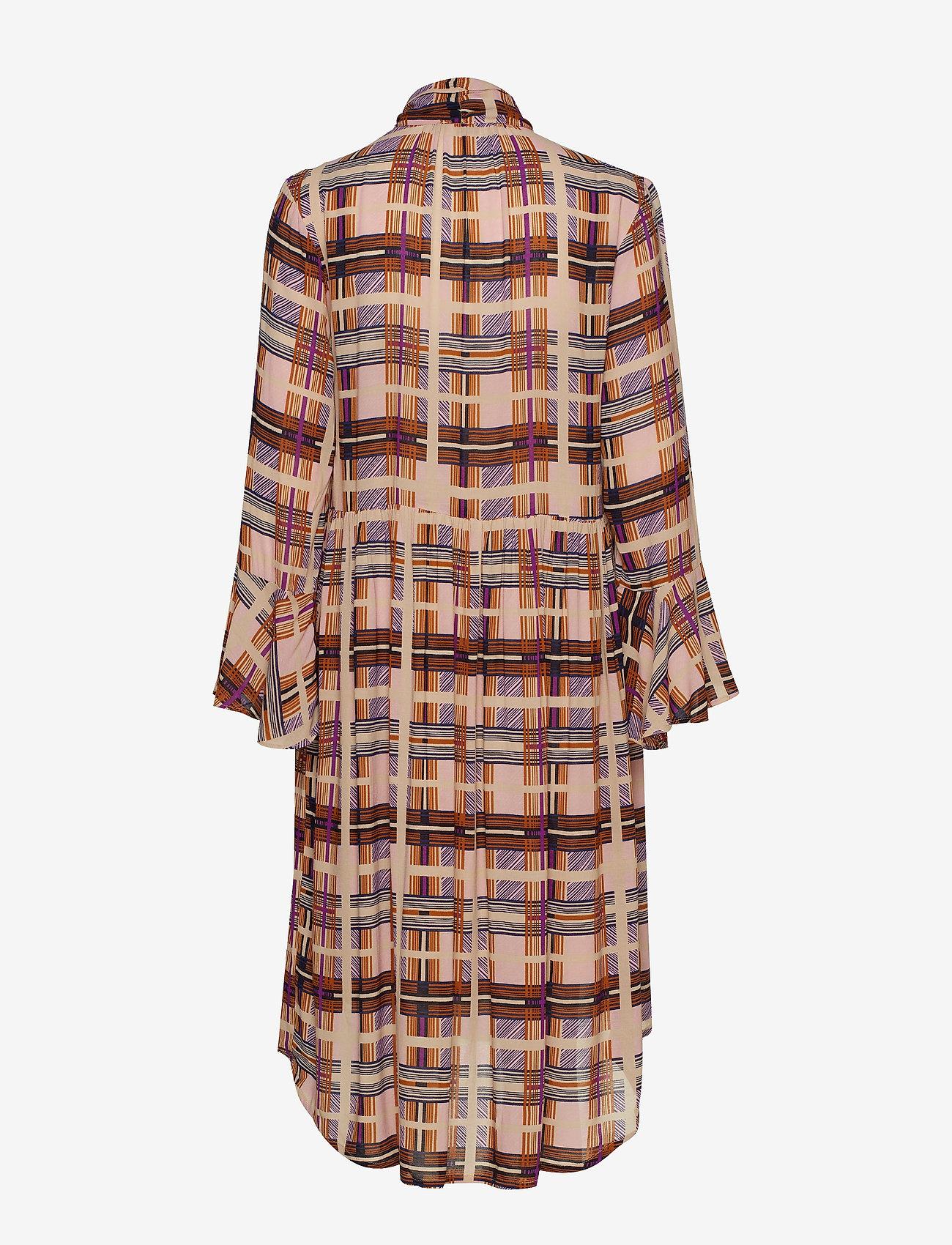 Checka Dress (Dachshund Brown) - Cream Yl3aqW