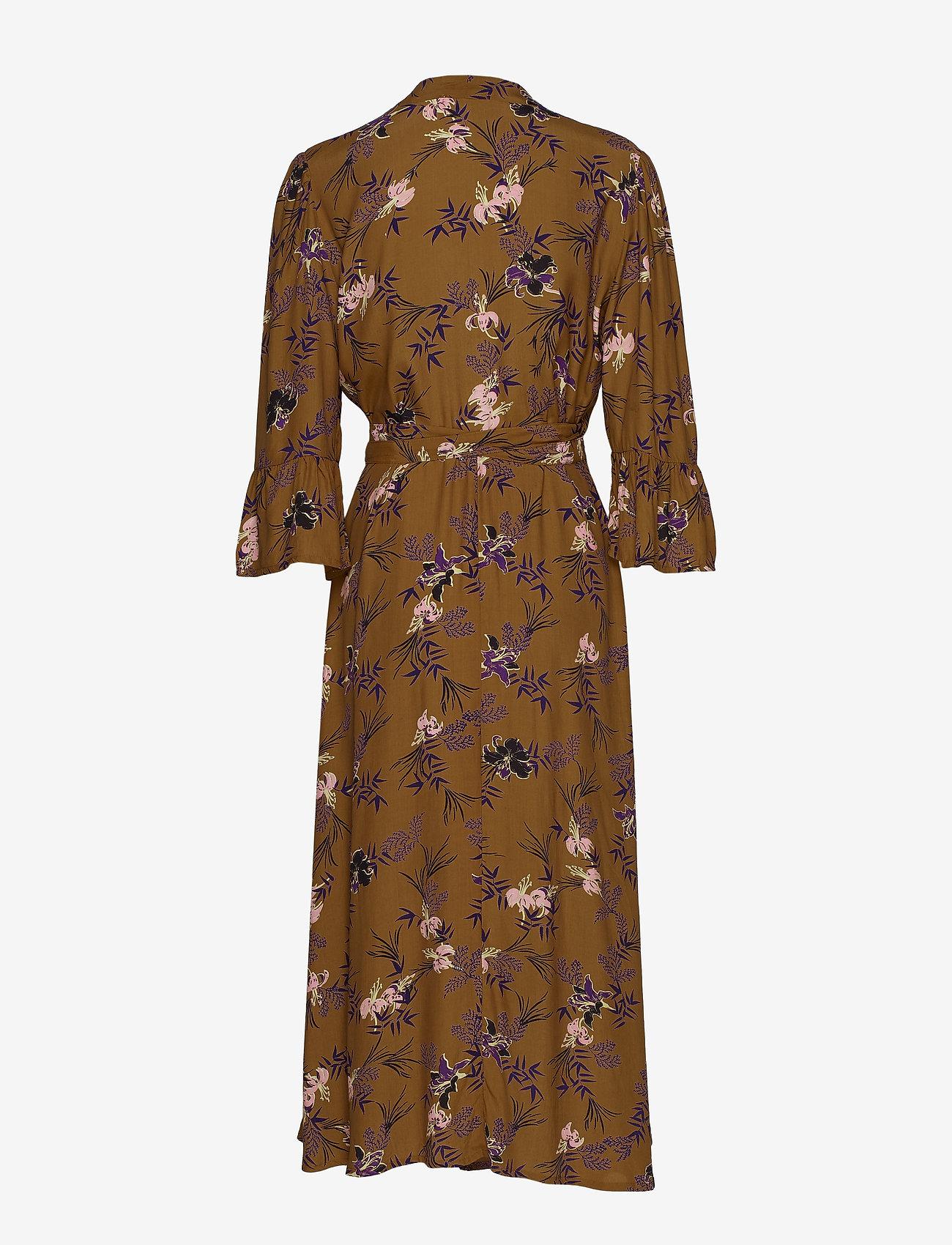Vivian Wrap Dress (Bronzed) - Cream V0O7iI