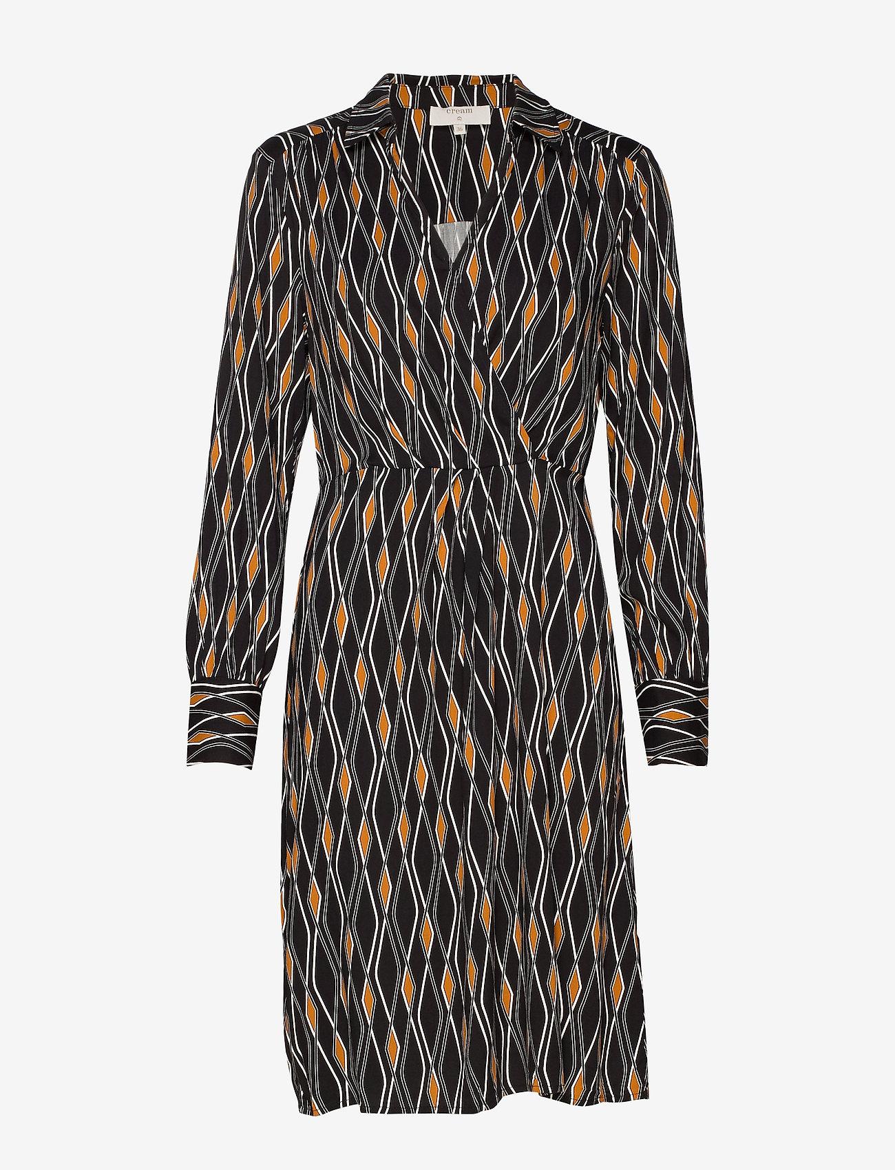 Cream - Karoline Wrap Dress - kietaisumekot - pitch black