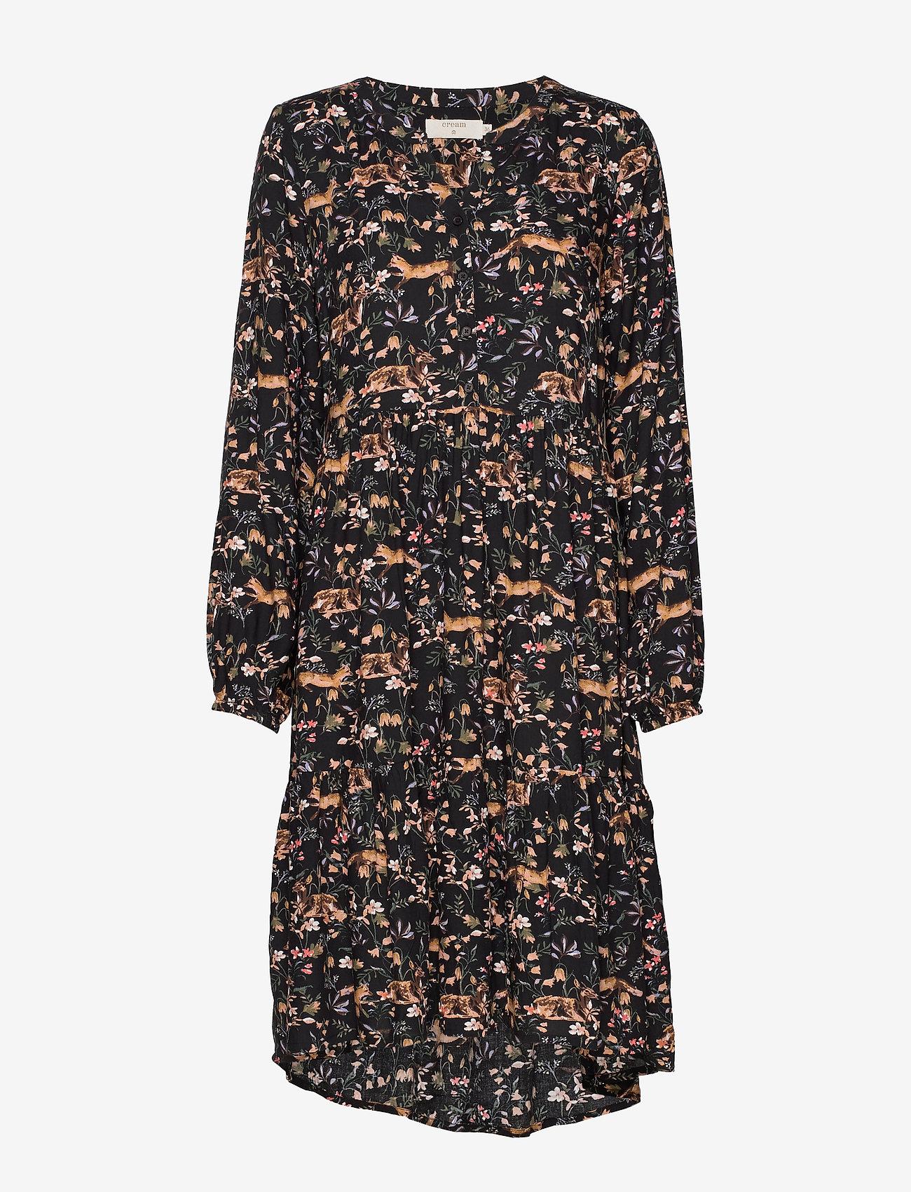 Cream - Foxy dress - midimekot - pitch black