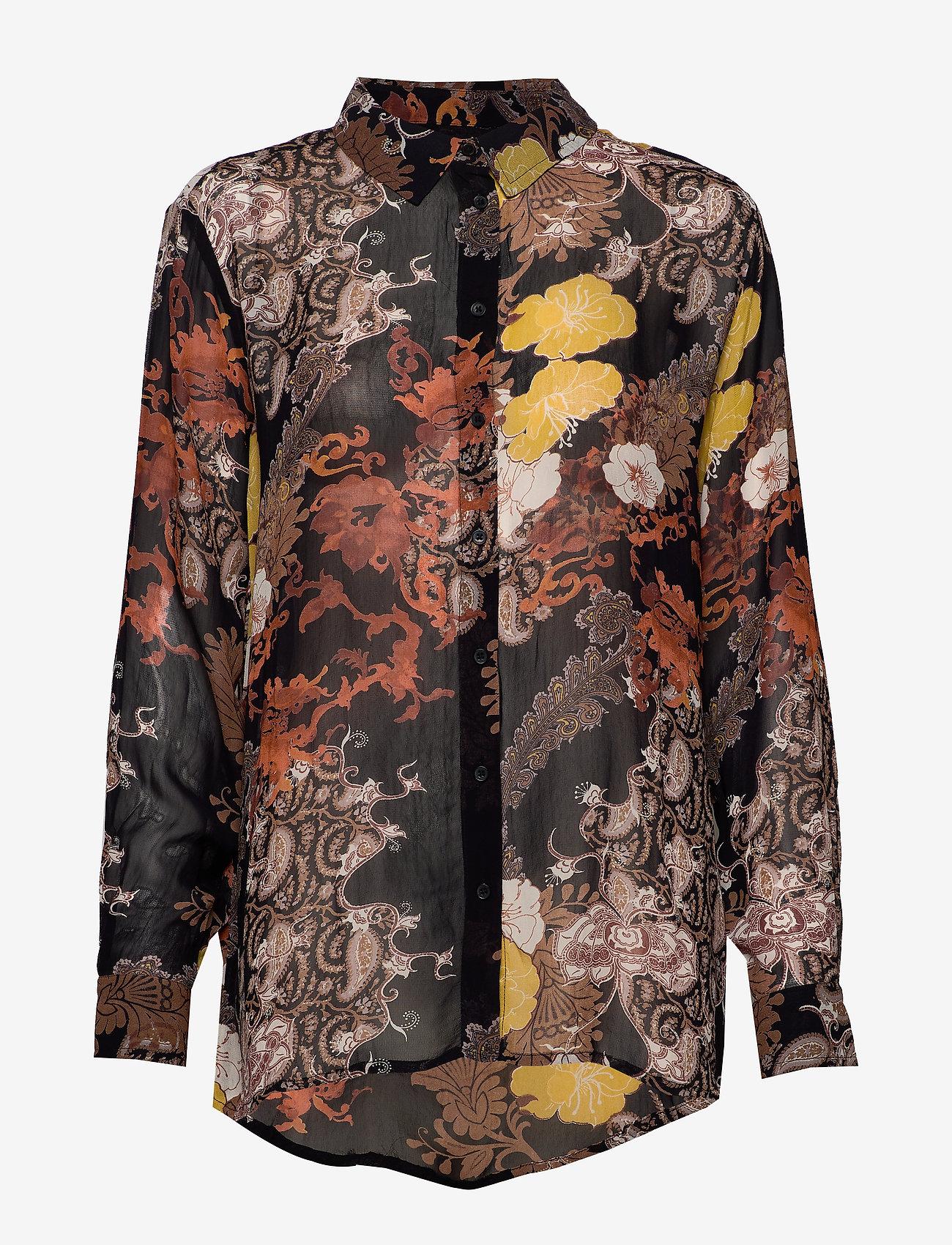 Cream - MargauxCR Shirt FSC - blouses à manches longues - pitch black