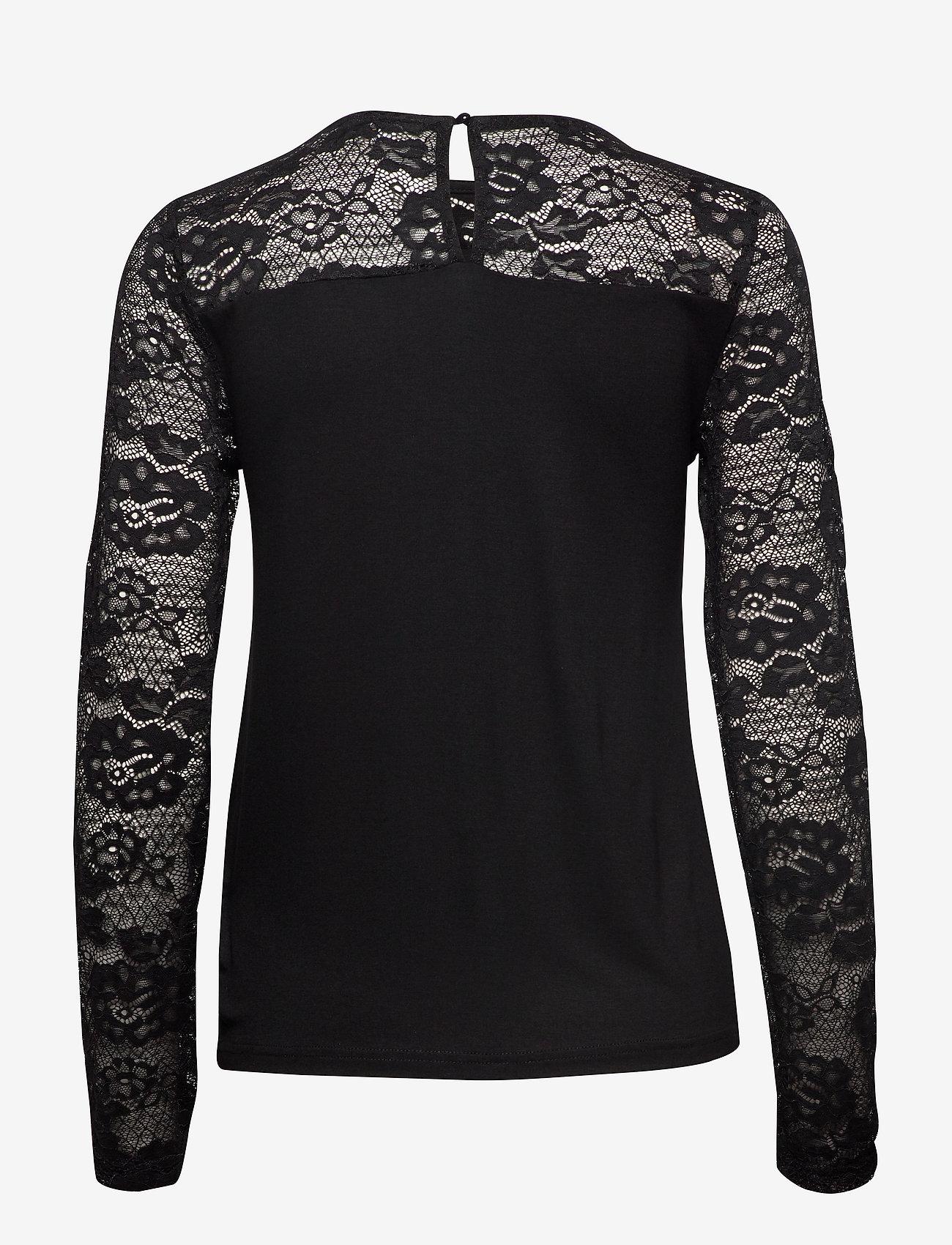 Cream - KaneCR Long Sleeve T-shirt - pitkähihaiset t-paidat - pitch black