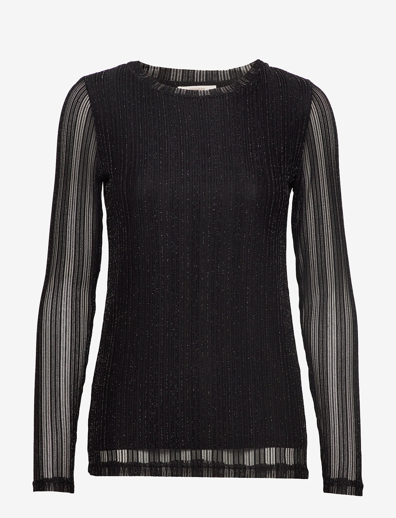 Cream - ZoeCR Long Sleeve T-shirt - basic t-shirts - pitch black