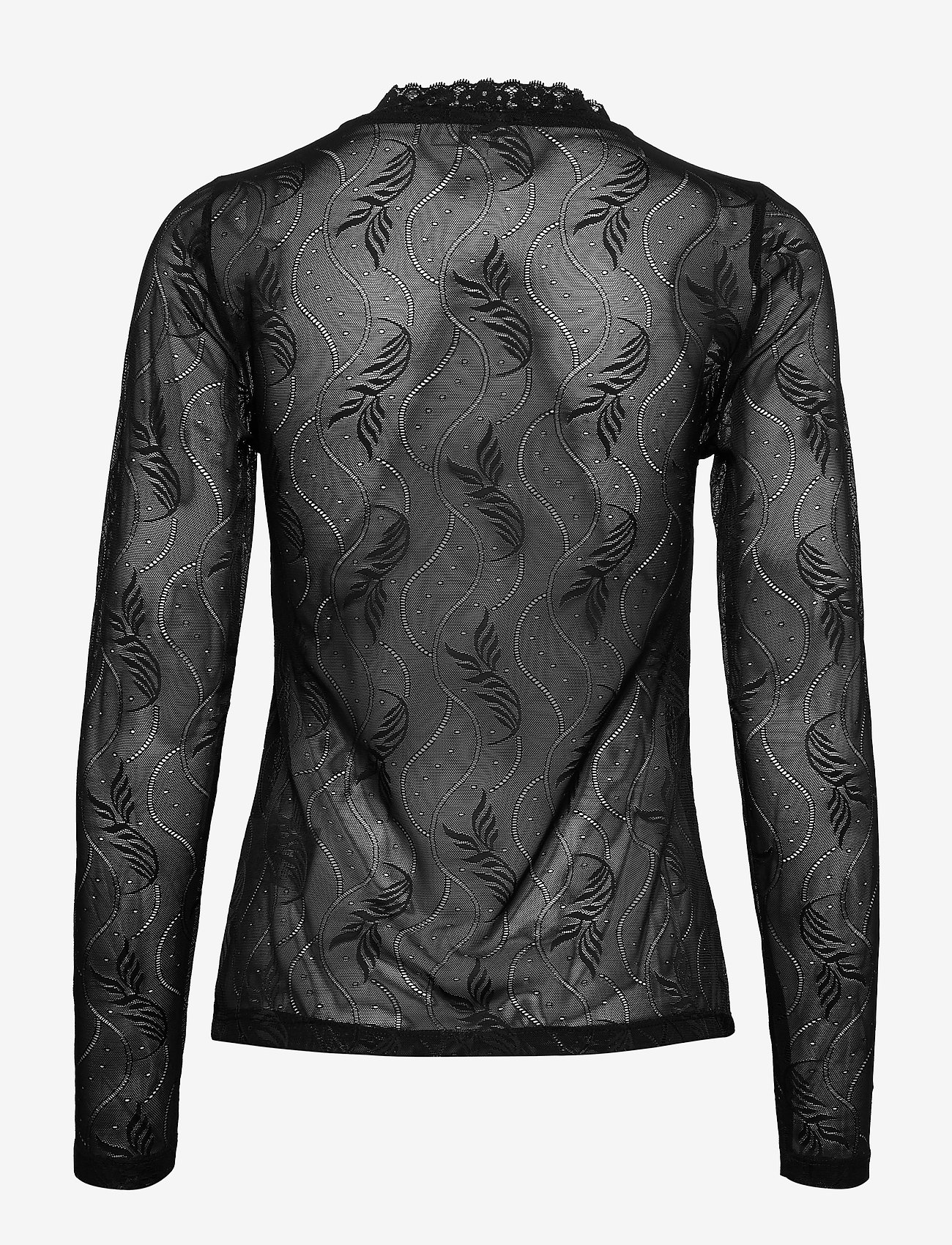 Cream - EverlyCR Long Sleeve T-shirt - blouses à manches longues - pitch black