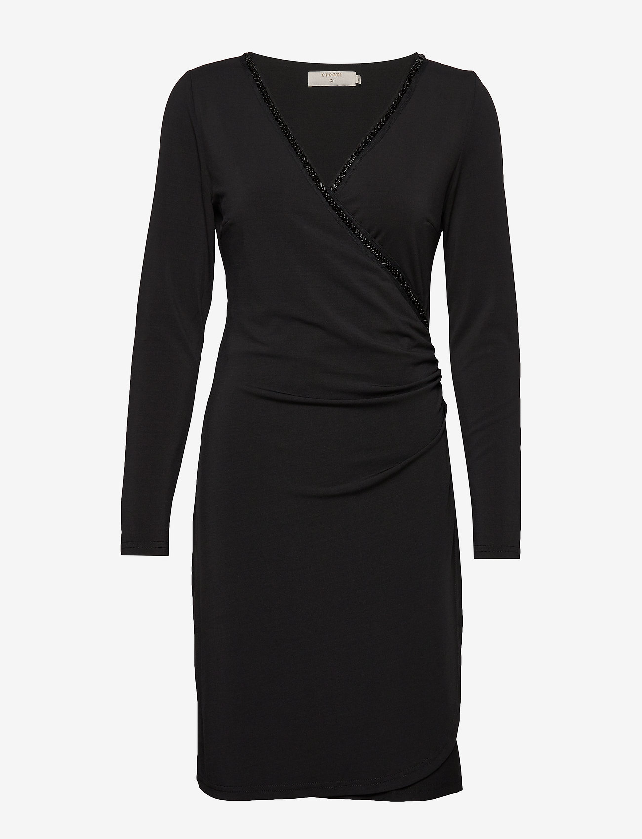 Cream - VelitaCR Dress - wrap dresses - pitch black