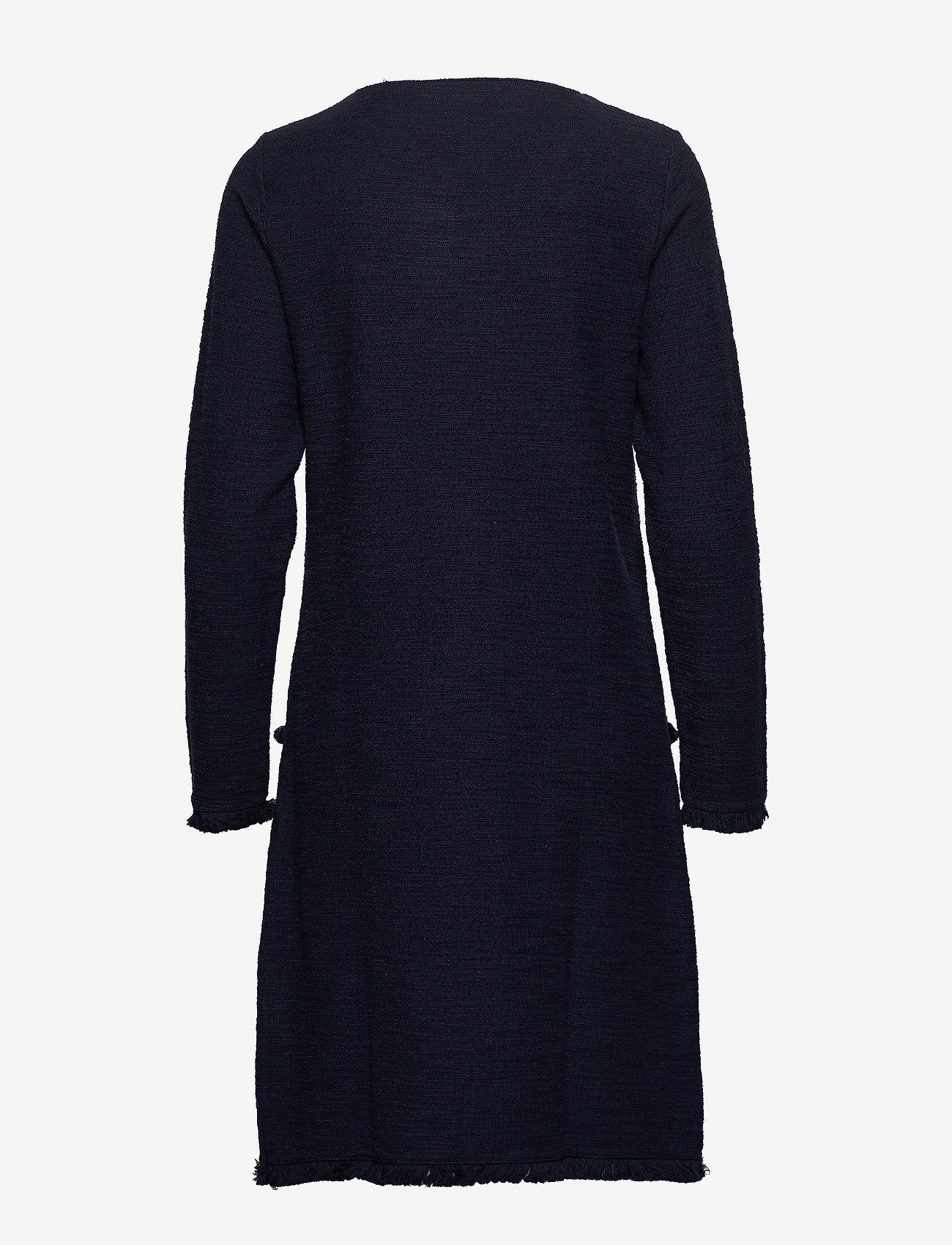 Cream - NaraCR Dress - midimekot - captain navy