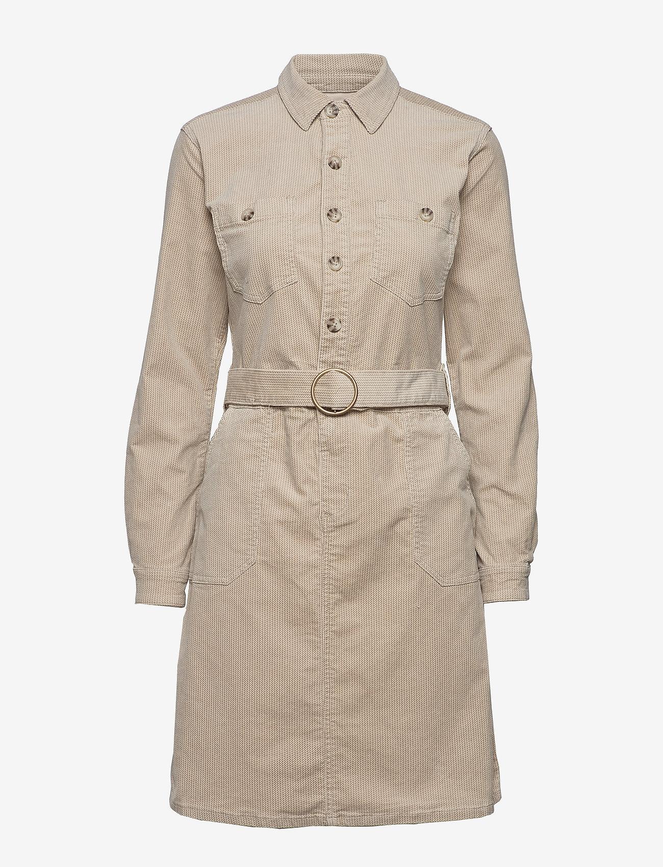 Cream - SiljaCR Dress - shirt dresses - light beige