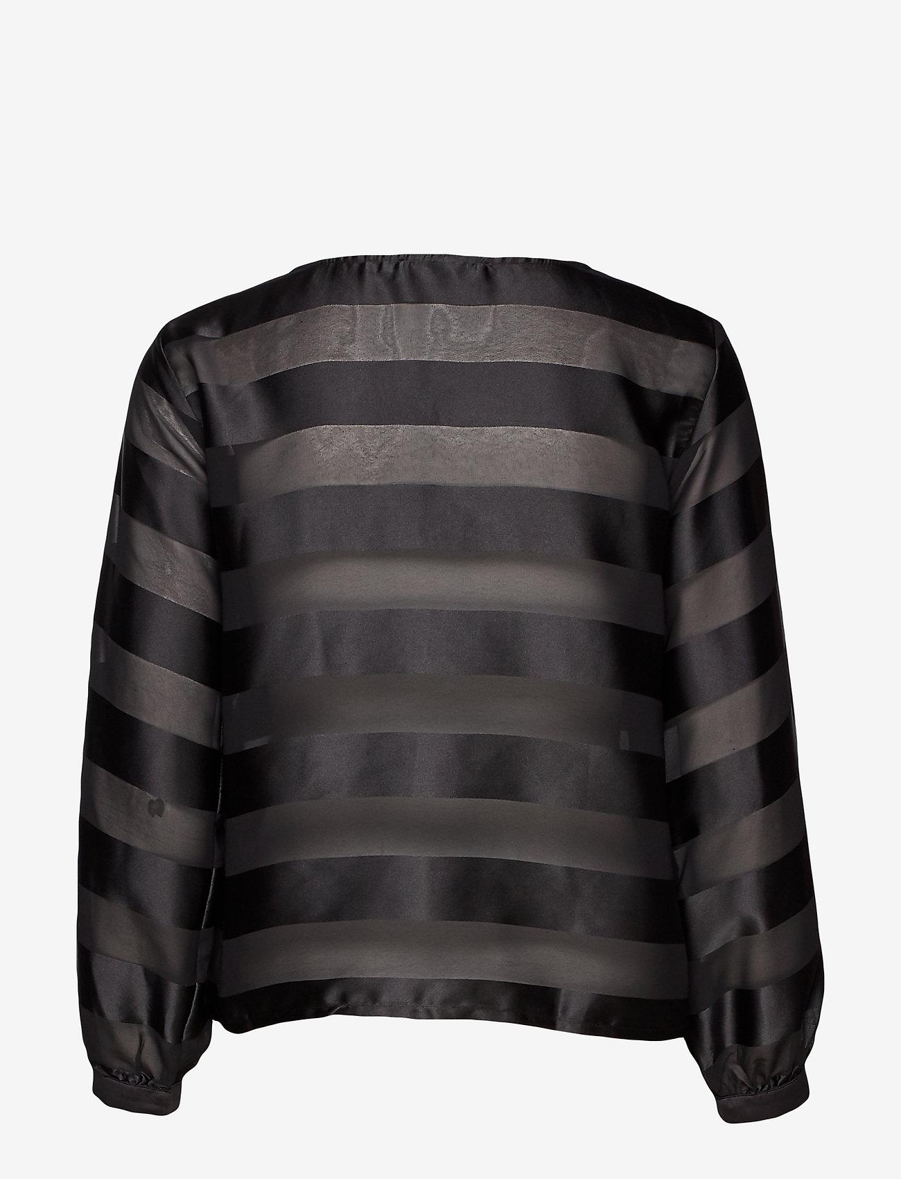 Cream - MillieCR Blouse - blouses à manches longues - pitch black
