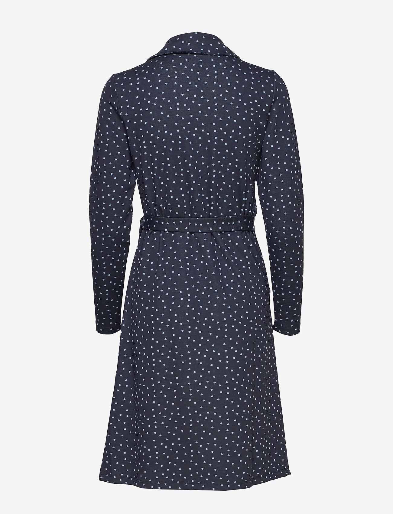 Cream Suedacr Wrap Dress - Robes Royal Navy Blue