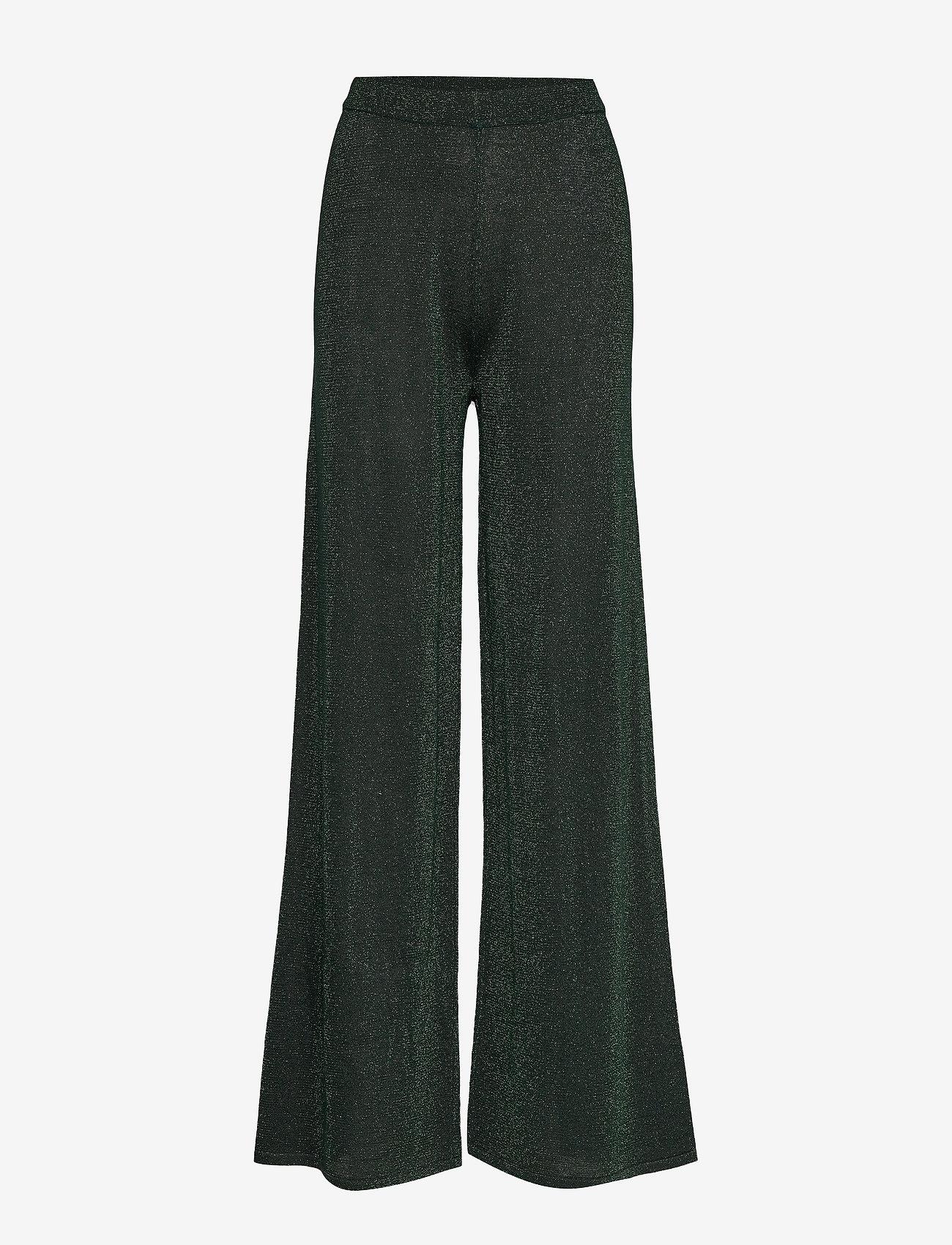 Cream - SierraCR Knit Pants - pantalons larges - deep green