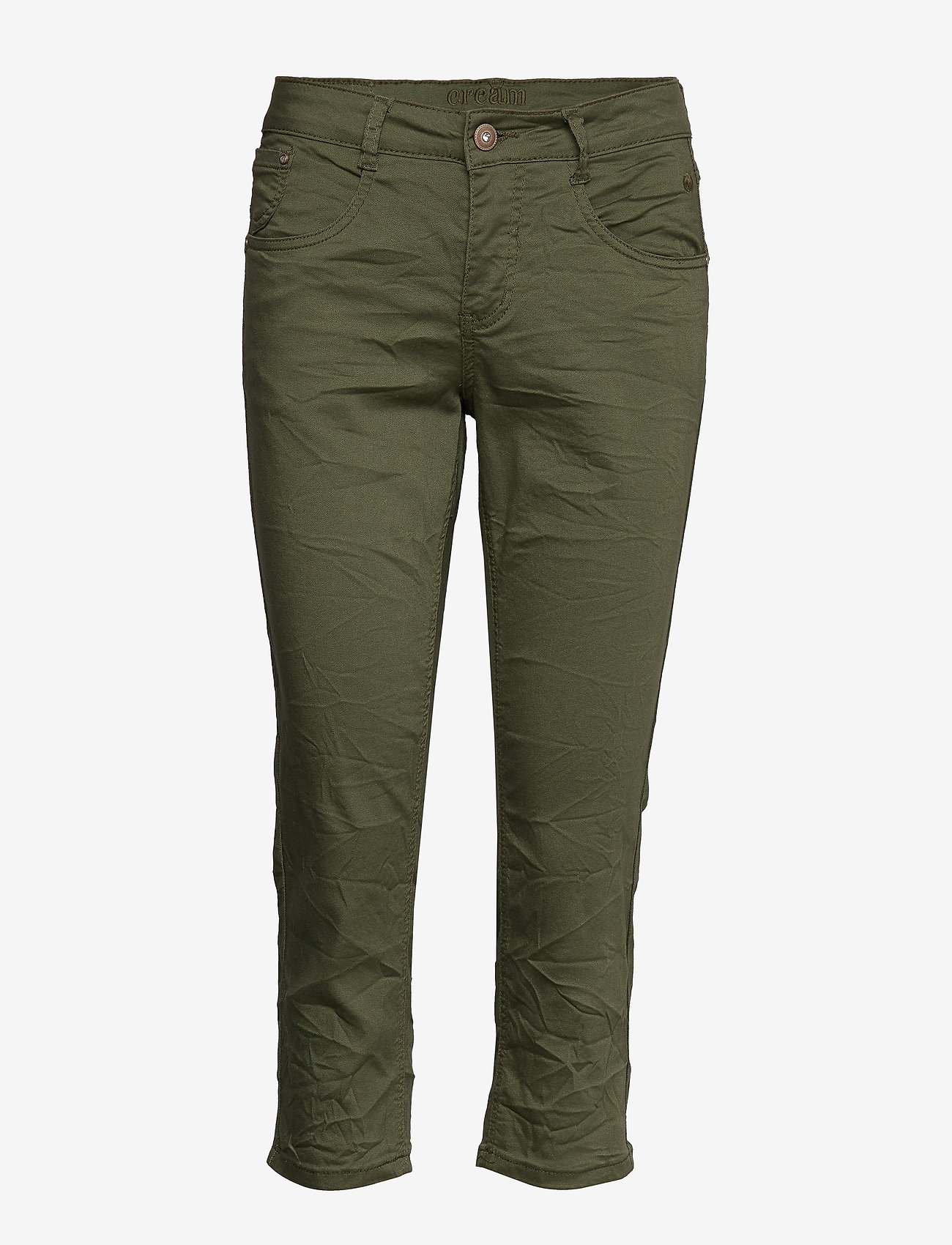 Cream - VavaCR 3/4 Pant coco fit - straight jeans - burnt olive - 0