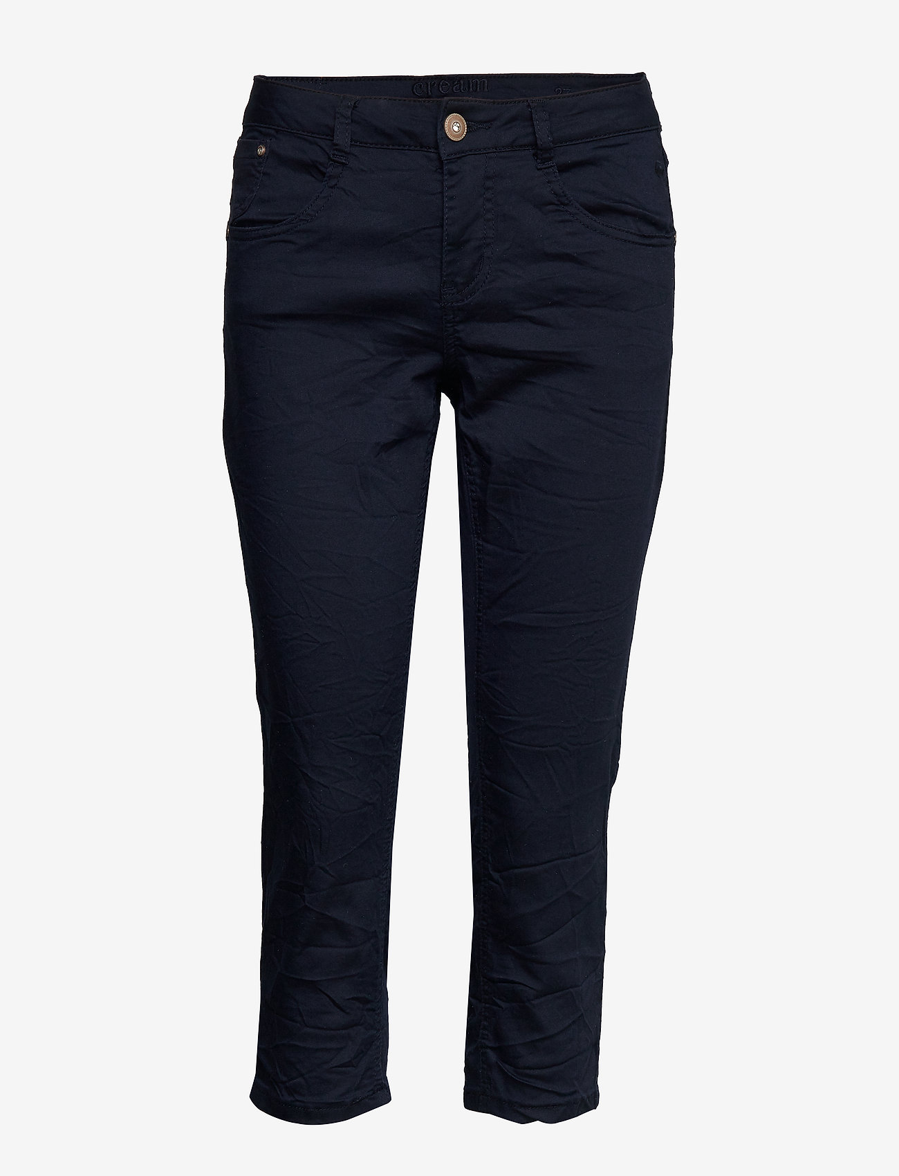 Cream - VavaCR 3/4 Pant coco fit - straight jeans - royal navy blue