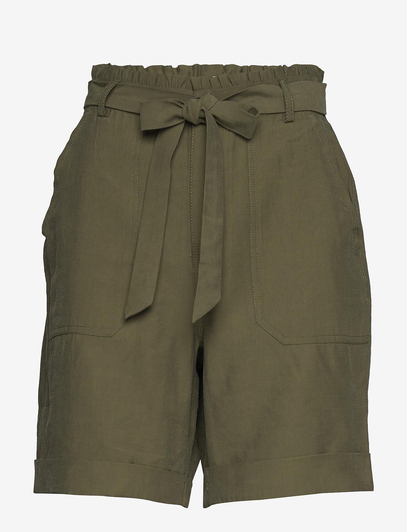 Cream - GunnaCR Shorts - paper bag shorts - burnt olive - 0