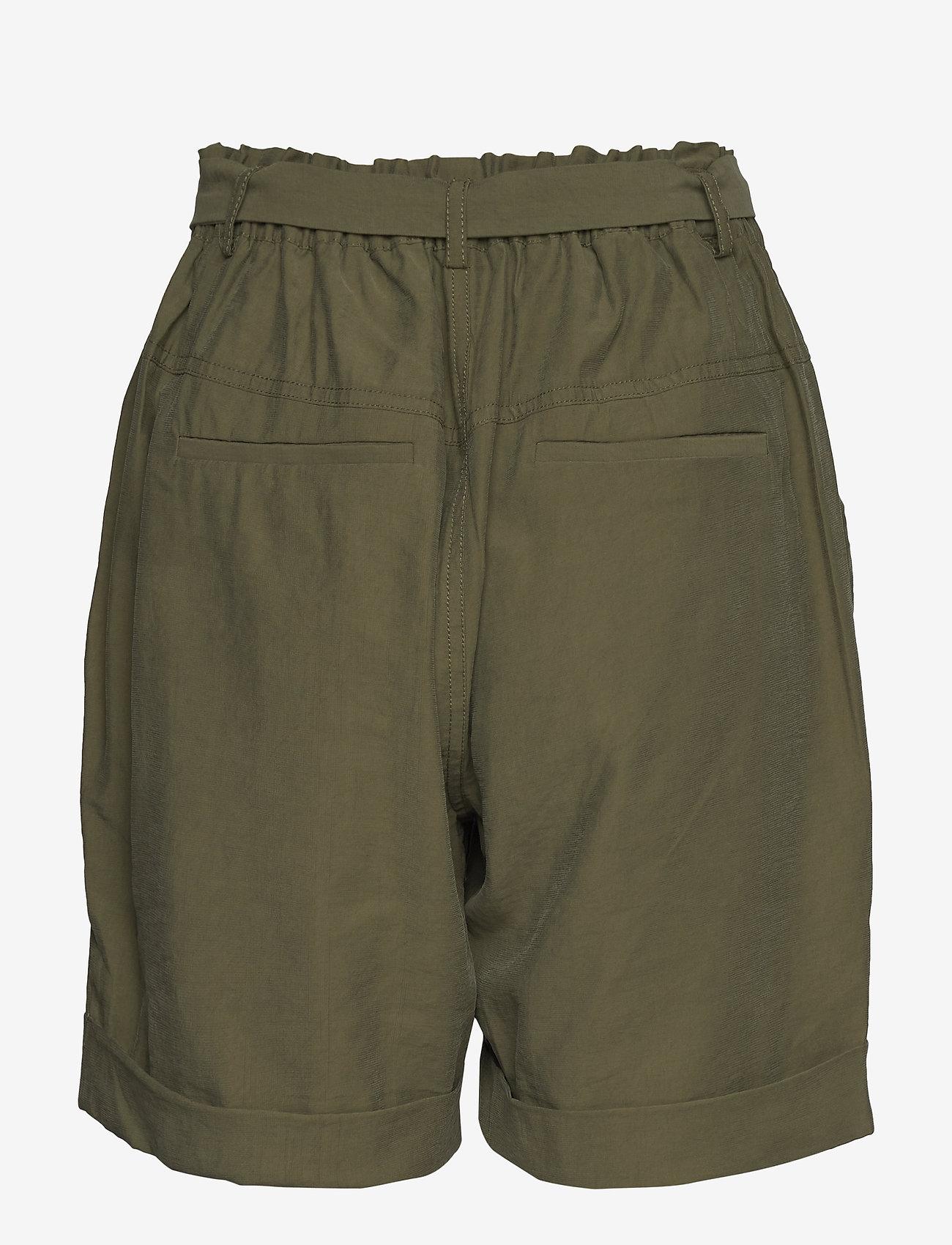Cream - GunnaCR Shorts - paper bag shorts - burnt olive - 1