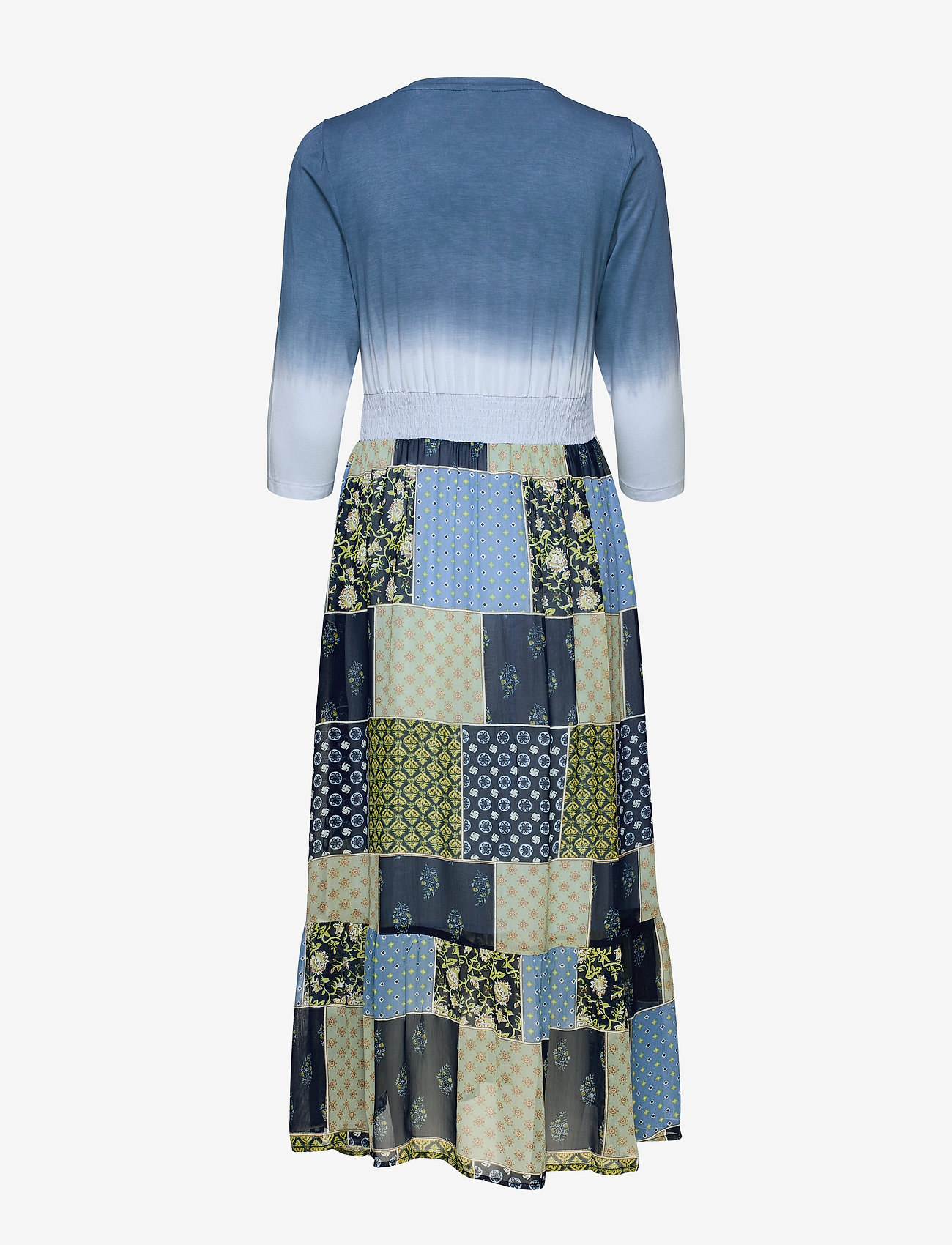 Clodiecr Long Dress (Royal Blue) - Cream cLWR9V
