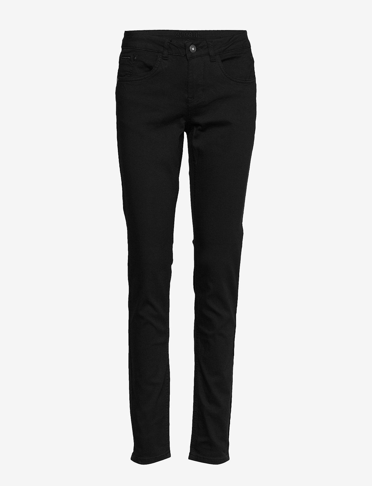 Cream - LotteCR Plain Twill - Coco Fit - skinny jeans - pitch black - 0