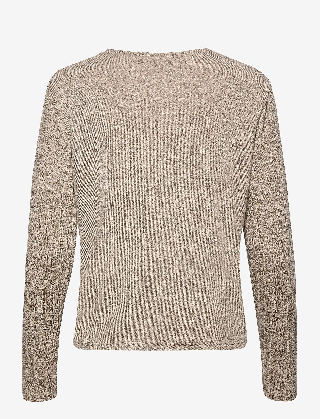 Cream - EmmyCR Short Cardigan - swetry rozpinane - sandshell melange - 1