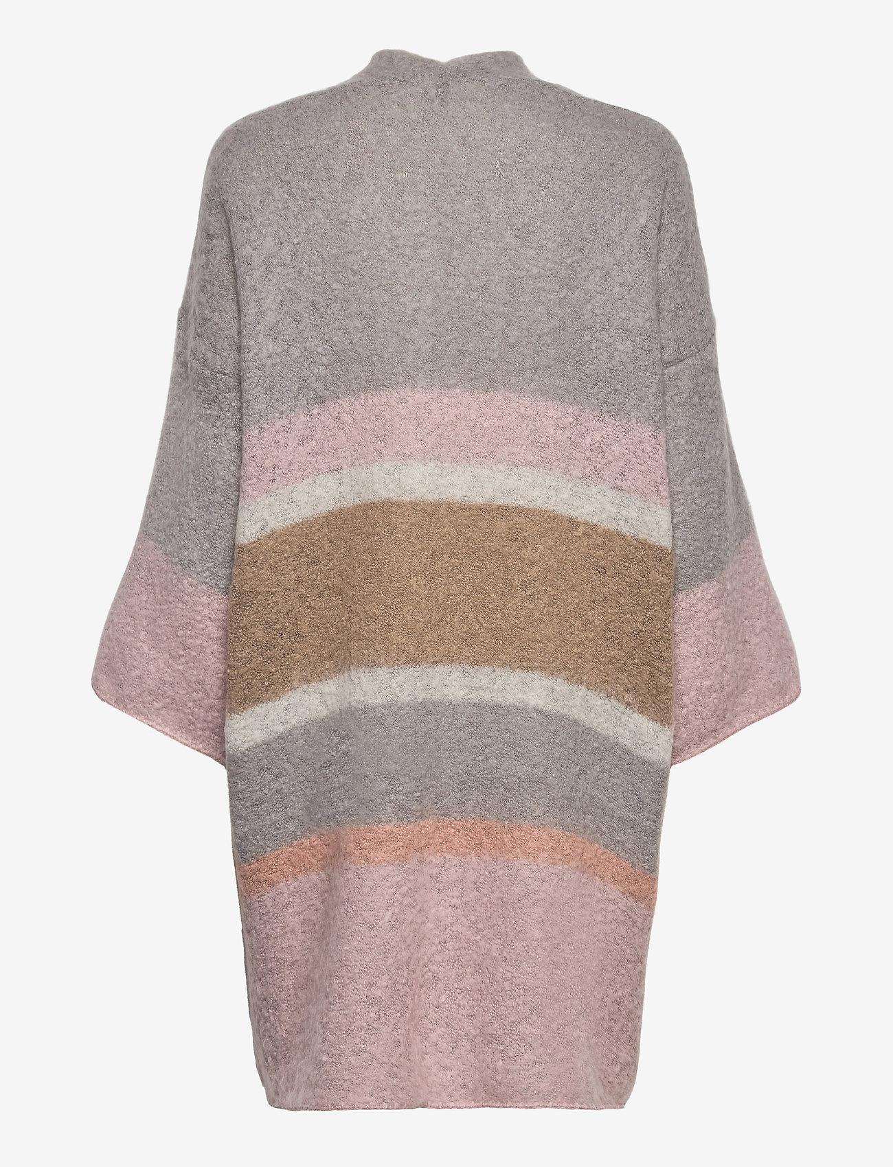 Cream - SinaCR Cardigan - swetry rozpinane - grey lilac stripe - 1