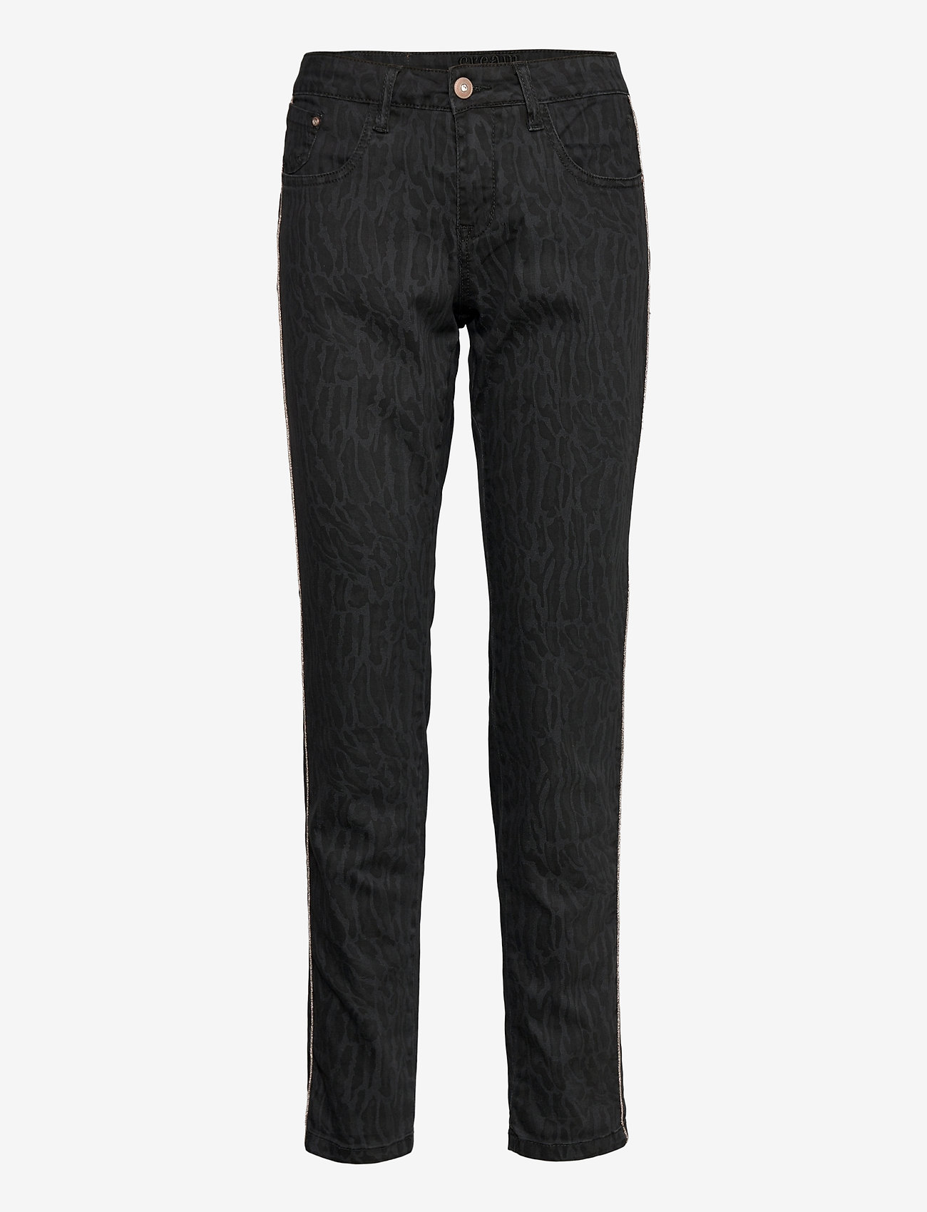 Cream - LotteCR Printed Twill Pants - Coco - slim jeans - grey toned tiger - 0