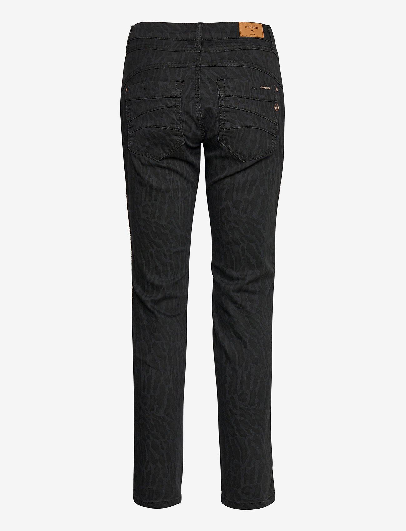 Cream - LotteCR Printed Twill Pants - Coco - slim jeans - grey toned tiger - 1