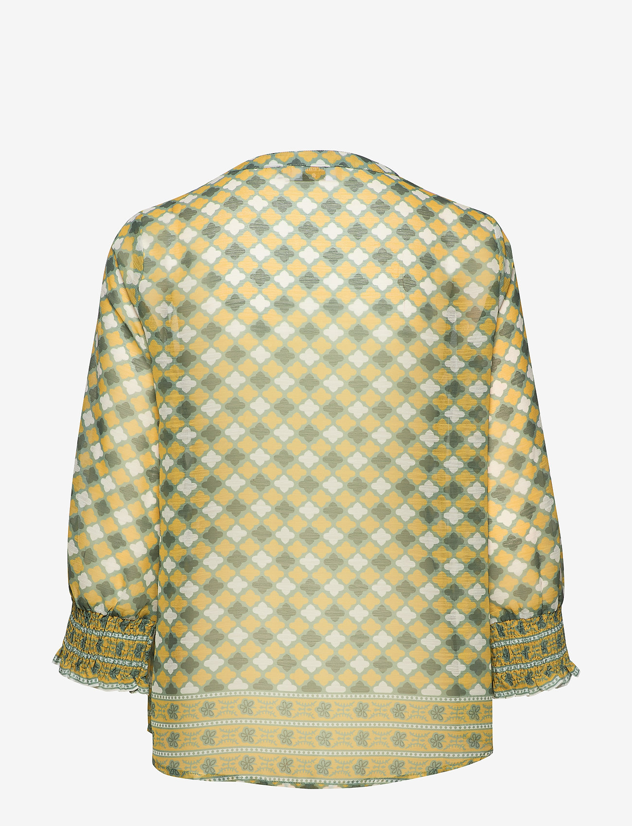 Cream - DaniCR Blouse - langærmede bluser - orange geometric - 1