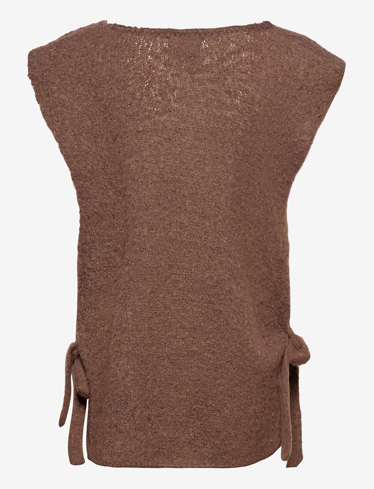 Cream - MaggieCR Sleeveless Pullover - knitted vests - carafe - 1