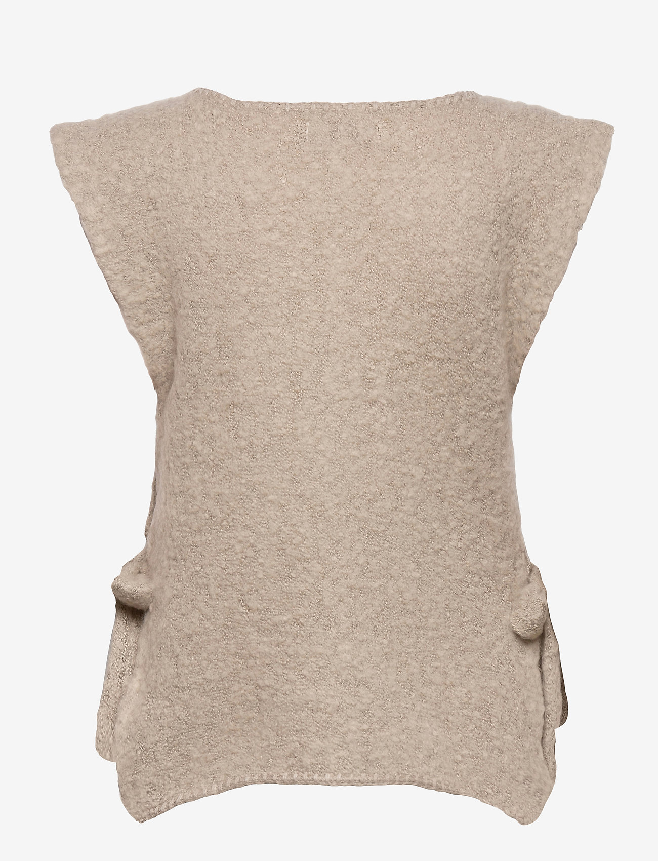 Cream - MaggieCR Sleeveless Pullover - knitted vests - feather gray - 1