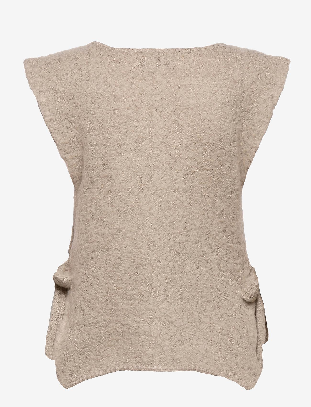Cream - MaggieCR Sleeveless Pullover - neuleliivit - feather gray - 1
