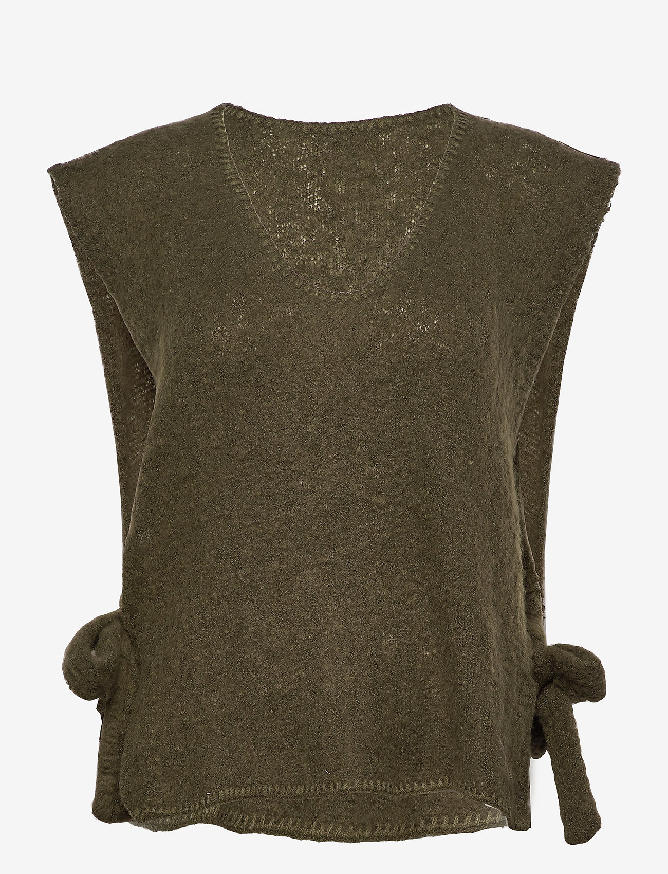 Cream - MaggieCR Sleeveless Pullover - knitted vests - sea turtle - 0