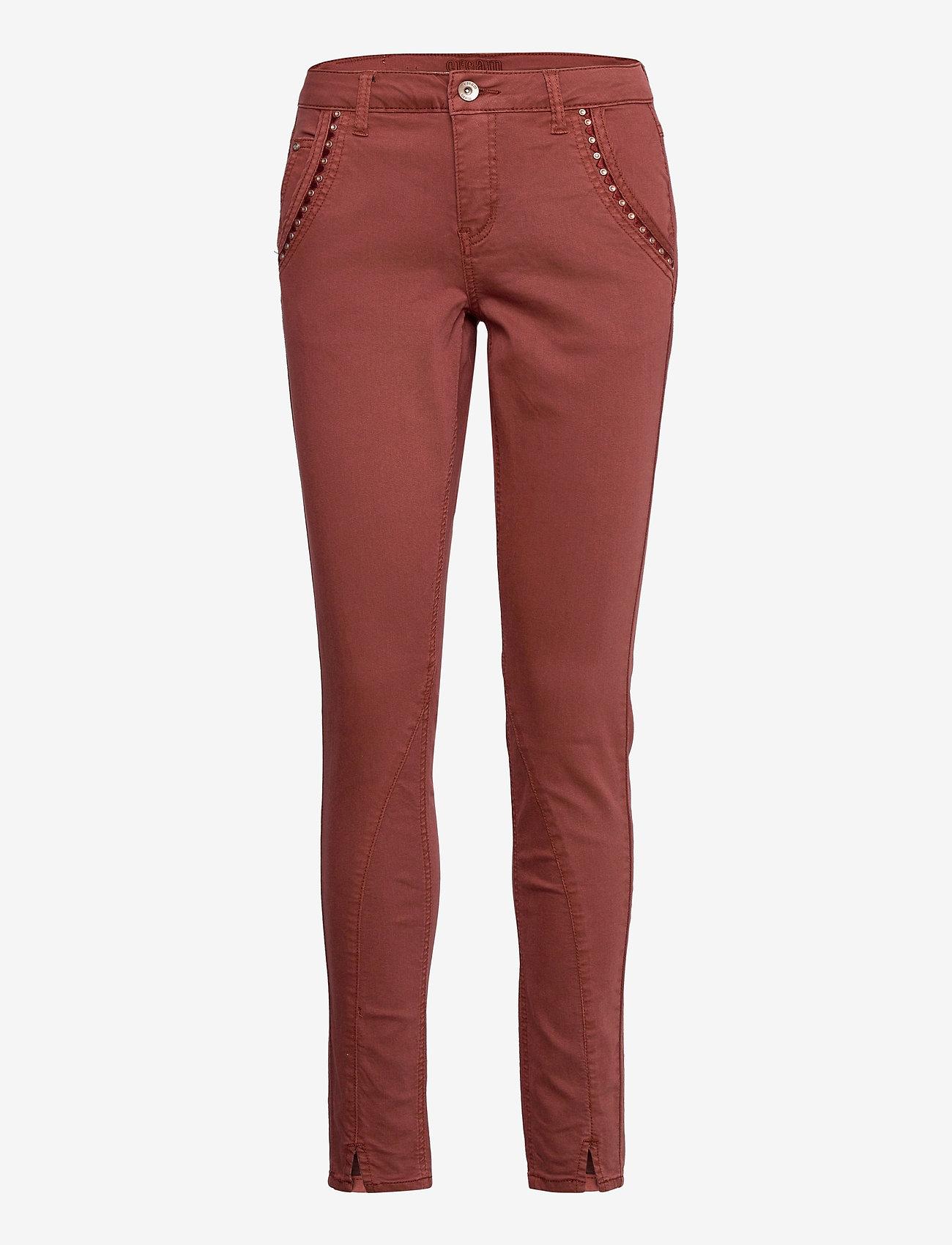 Cream - HollyCR Twill Pants - Baiily Fit - straight regular - henna - 0