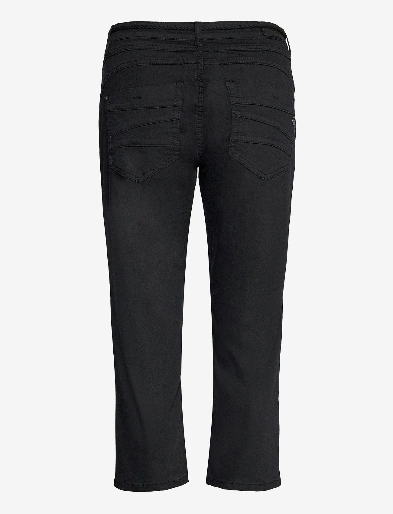 Cream - CRVava Pant 3/4 - Coco Fit - straight regular - pitch black - 1